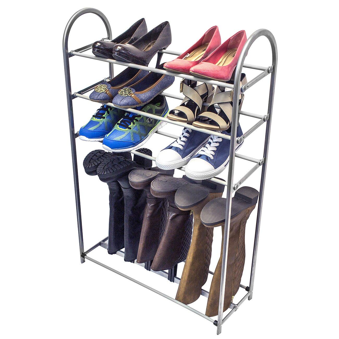 ggi international sorbus 4 tier shoe rack reviews. Black Bedroom Furniture Sets. Home Design Ideas