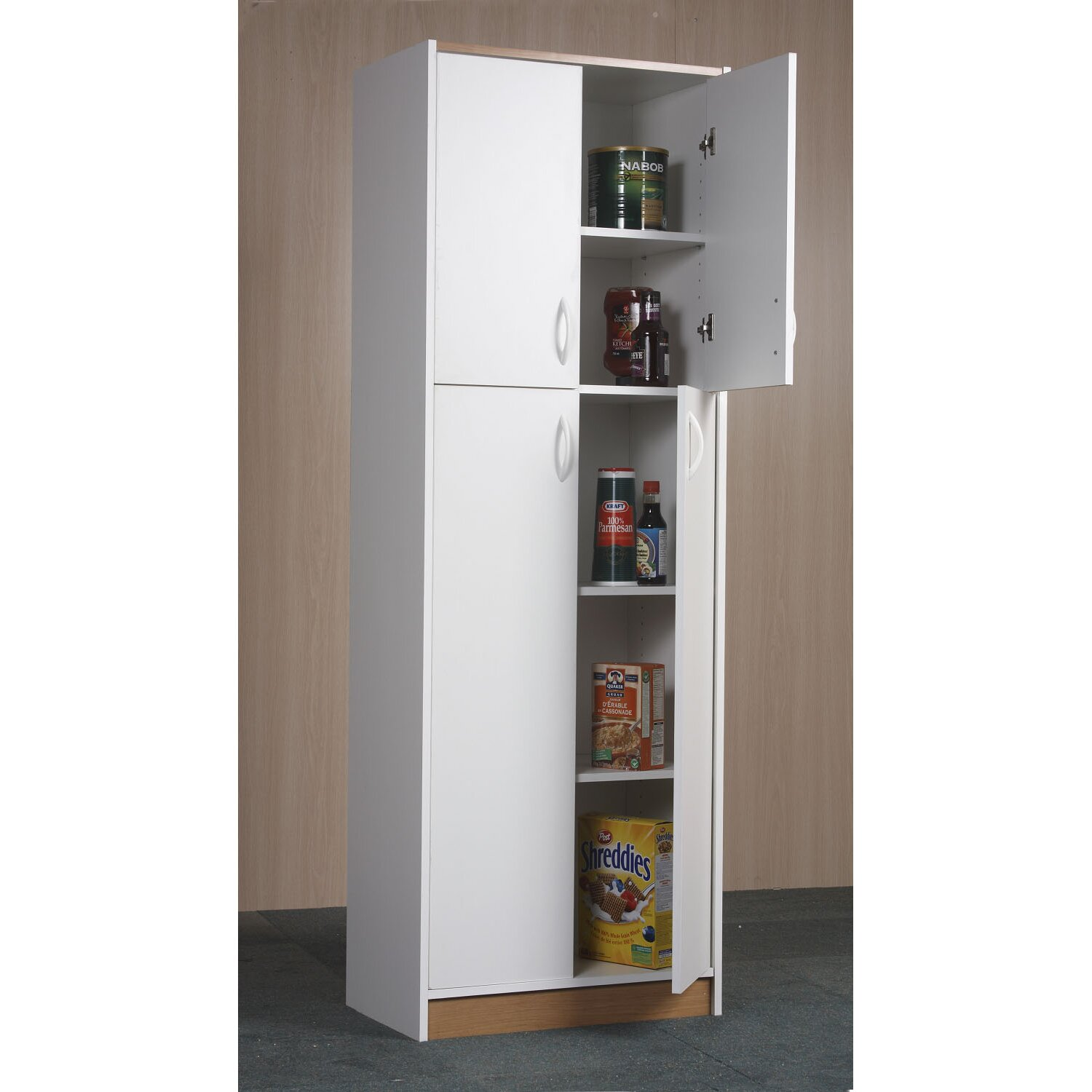 Great Tall Kitchen Cabinet With Doors Clairelevy.