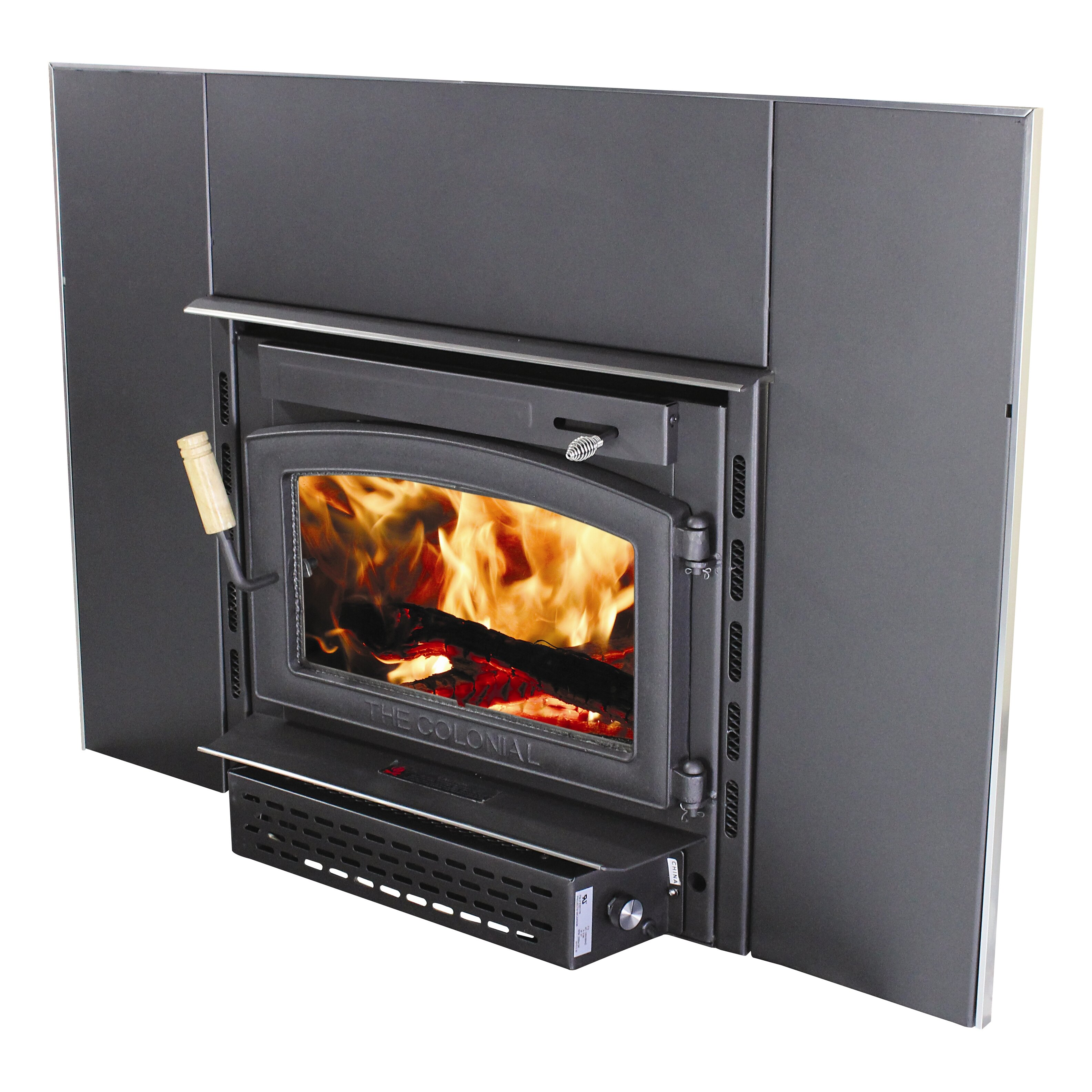 colonial wall mount wood burning fireplace insert reviews wayfair