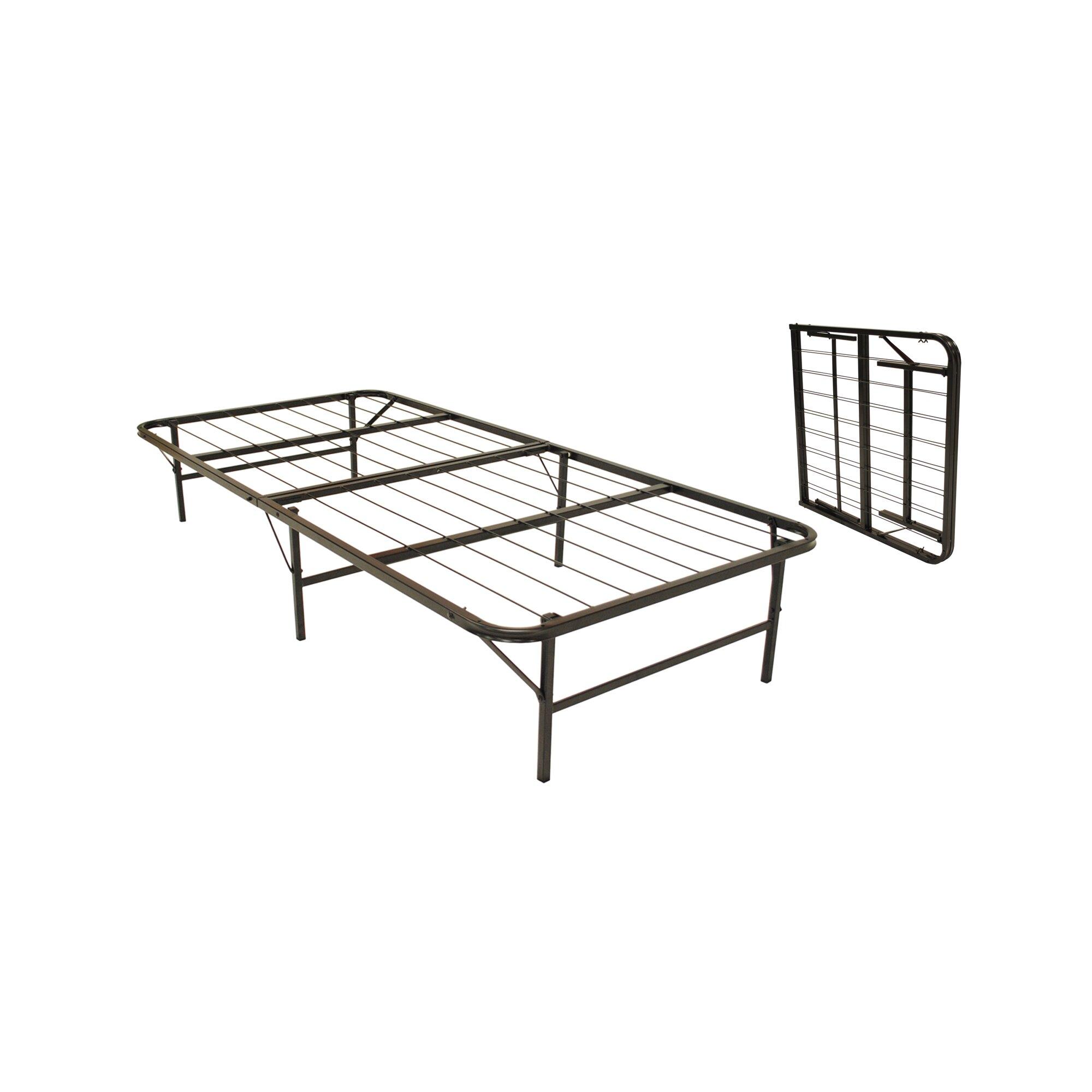 Pragma bed bi fold bed frame reviews wayfair for Folding futon bed frame