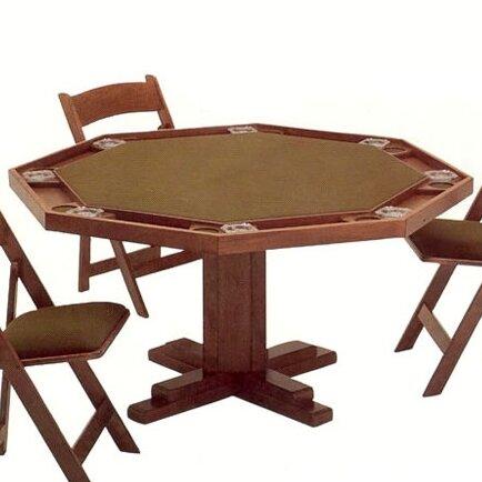 Kestell furniture 52 pedestal base poker table wayfair for 52 game table