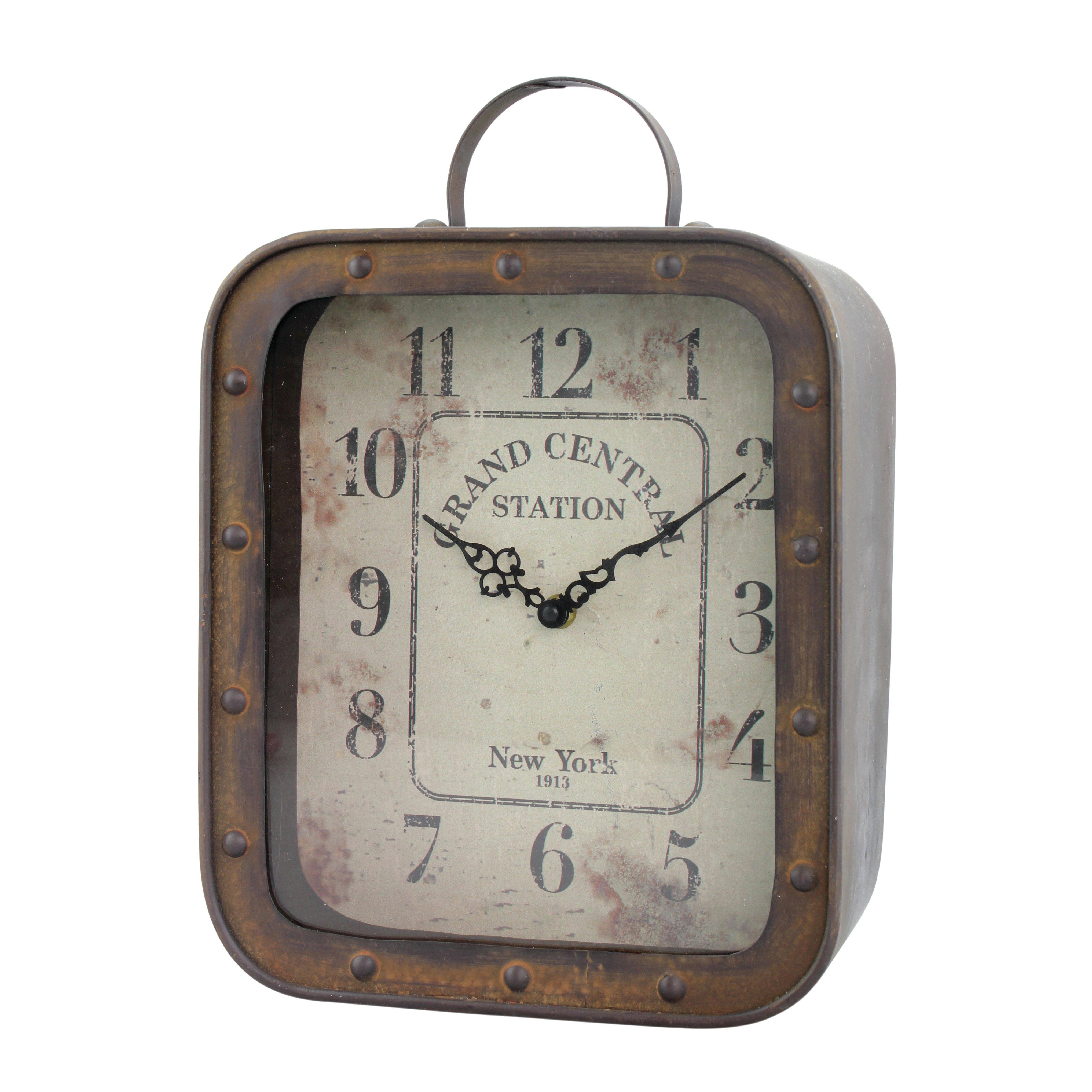 Rustic Table Clock: CKK Home Décor, LP Rustic Retreat Table Clock & Reviews