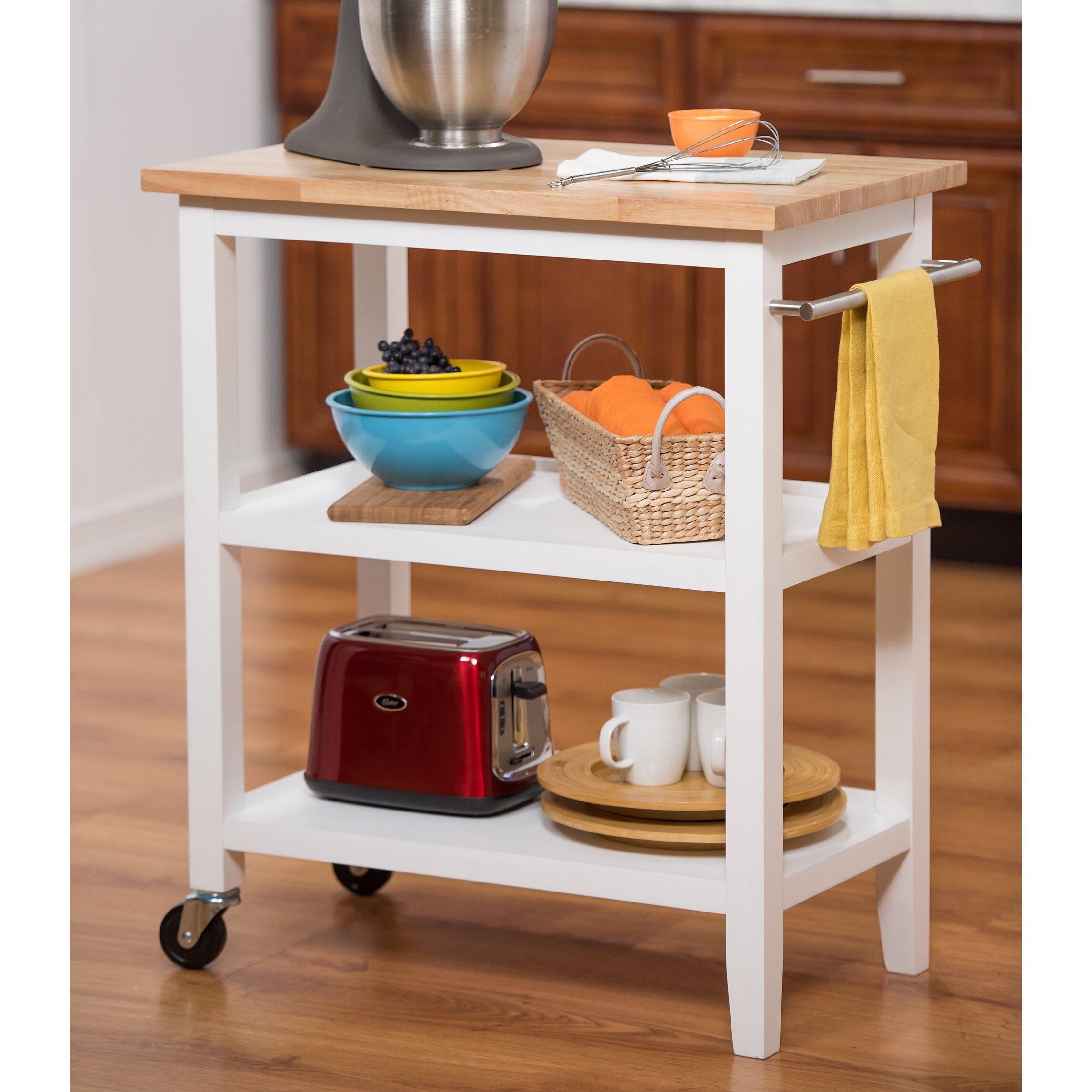 Trinity Kitchen Cart With Wood Top Reviews Wayfair