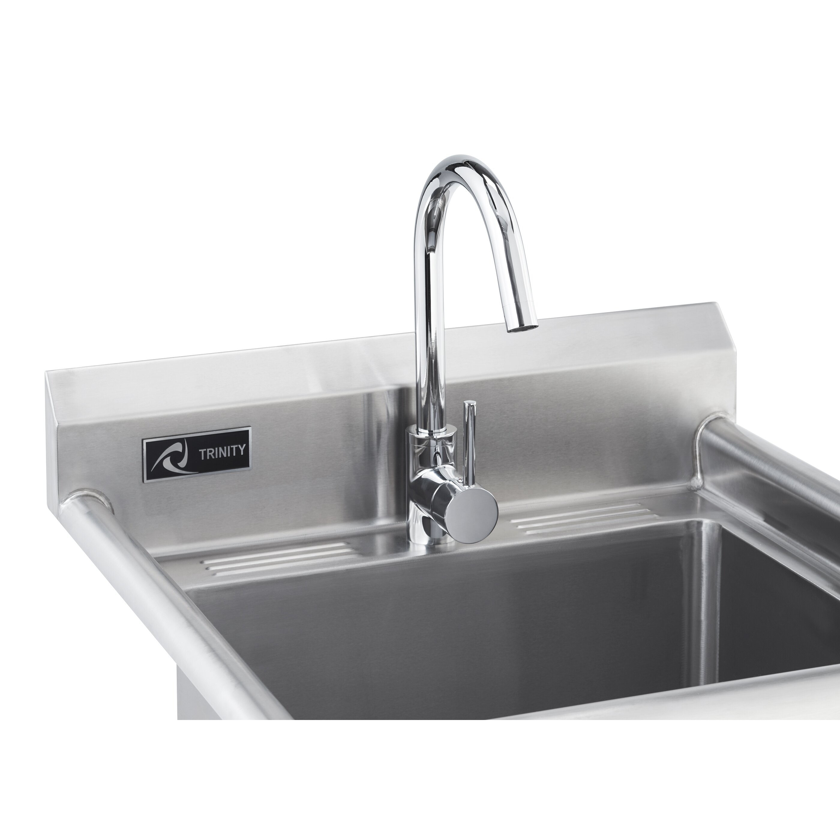 Stainless Steel Sink Suppliers : ... Stainless Steel Utility Sink with Faucet & Reviews Wayfair Supply