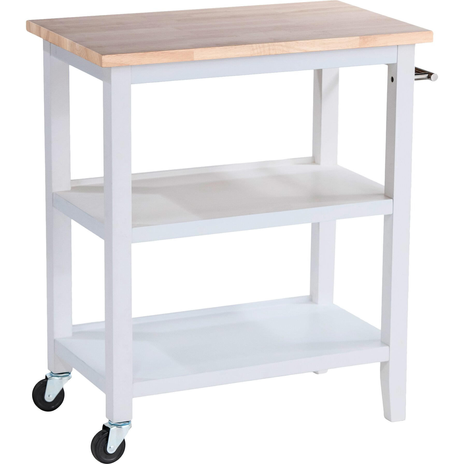 kitchen cart with wood top reviews wayfair supply
