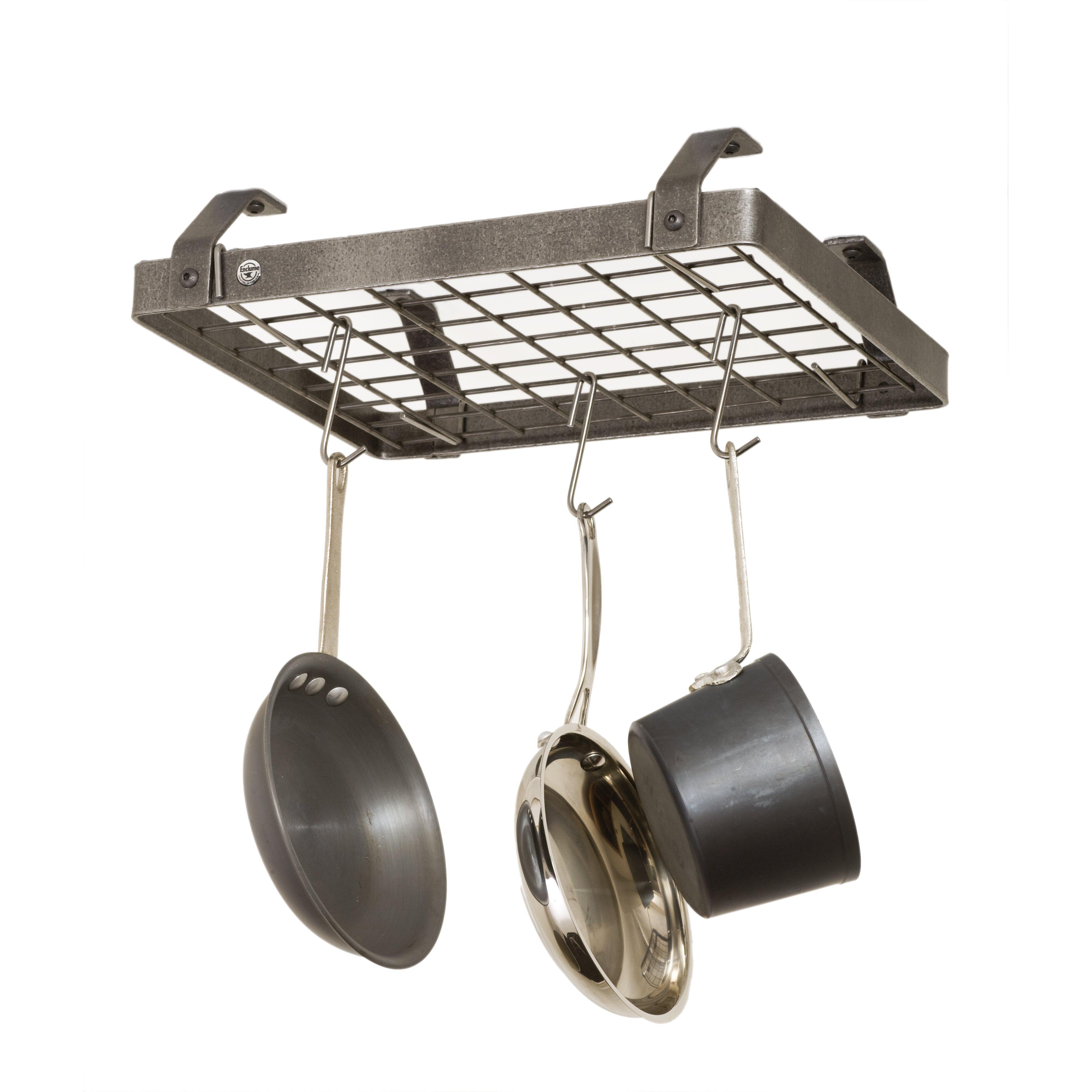 Enclume Low Ceiling Rectangle Hanging Pot Rack | Wayfair