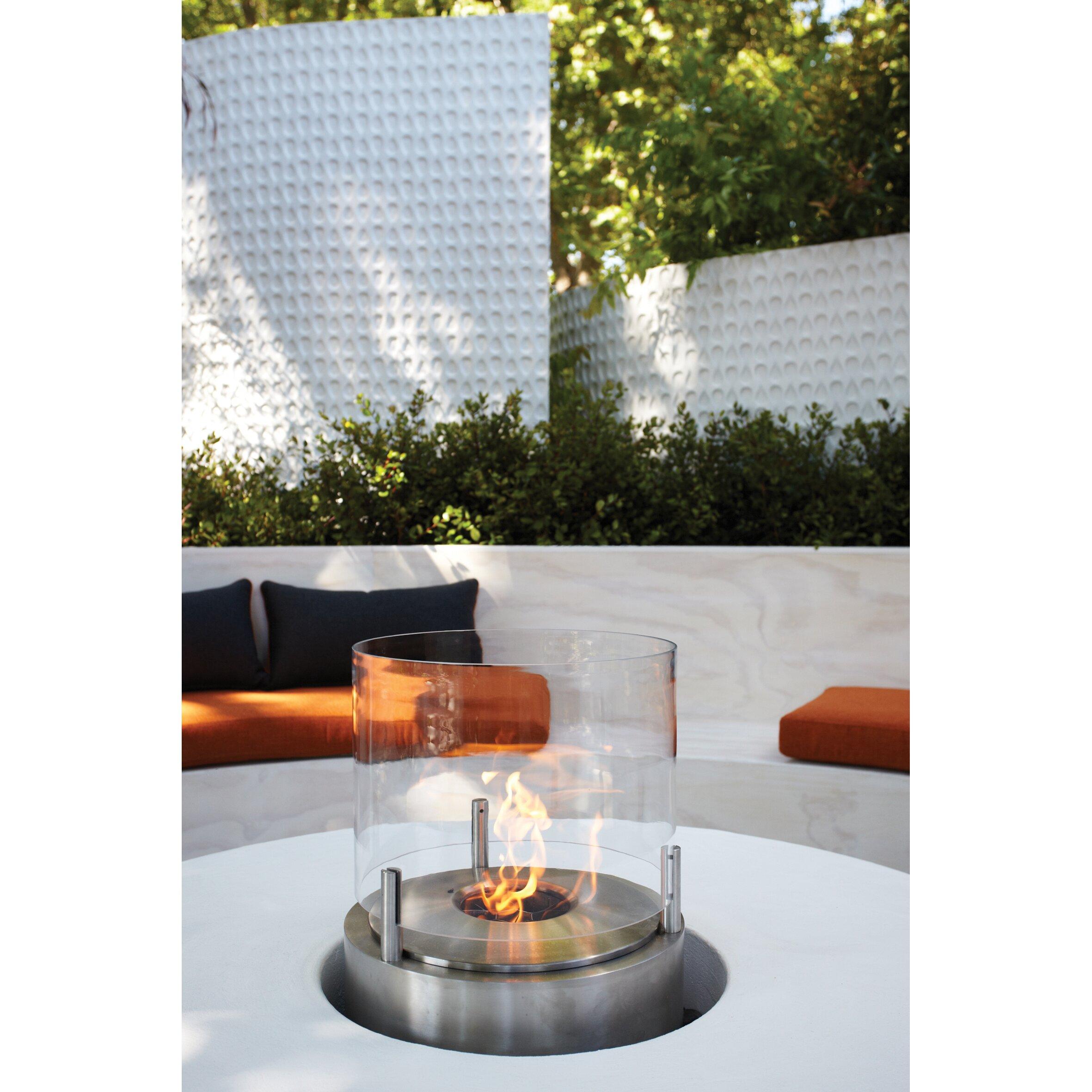ecosmart cyl bio ethanol tabletop fireplace wayfair