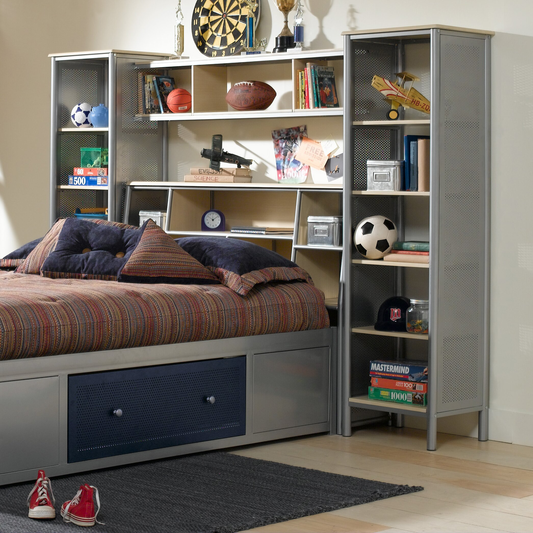 Hillsdale Universal Youth Platform 3 Piece Bedroom Shelf