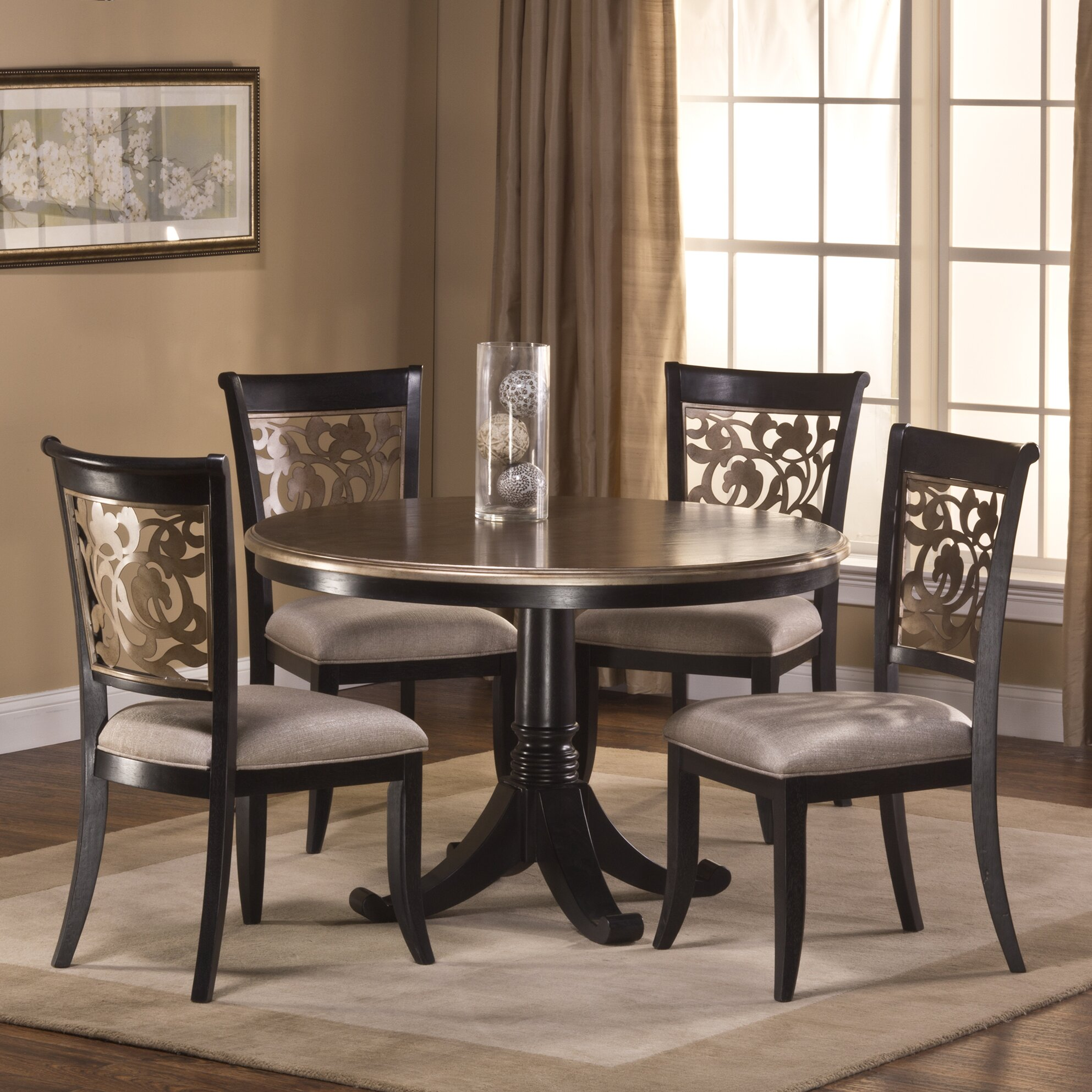 Hillsdale bennington 5 piece dining set reviews wayfair for Furniture 2 day shipping