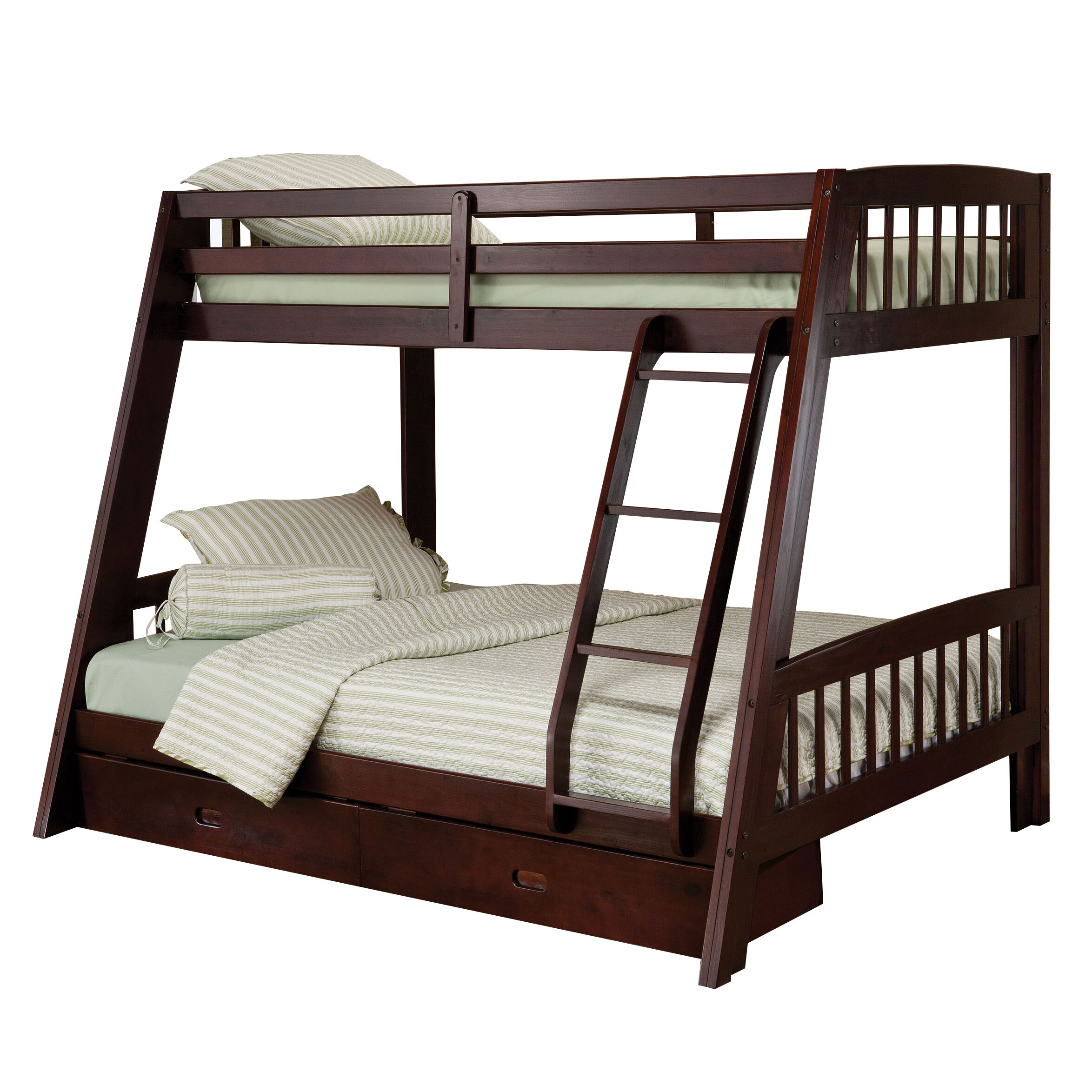 Loft Bed: Hillsdale Rockdale Twin Over Full Bunk Bed With Storage