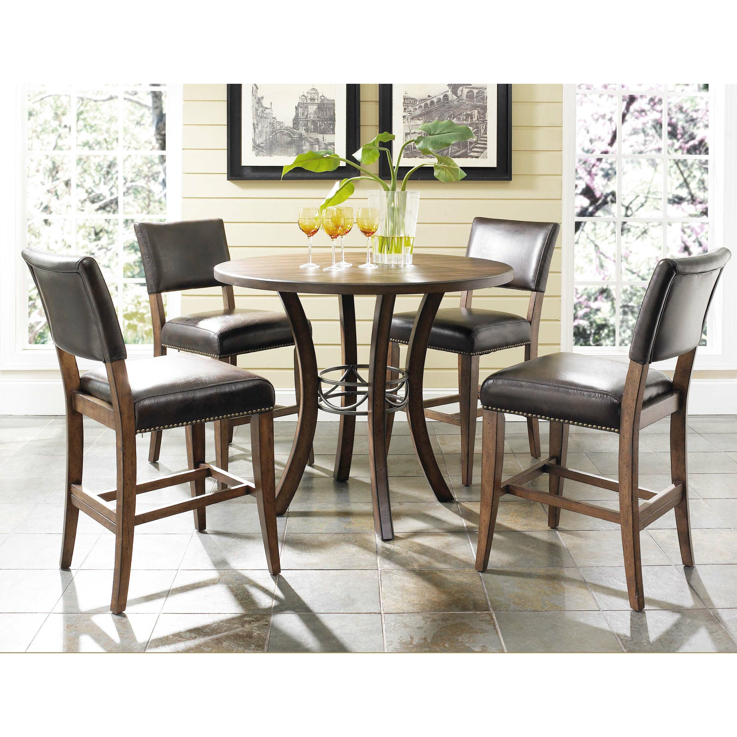 Hillsdale cameron 5 piece counter height dining set for Counter height dining set