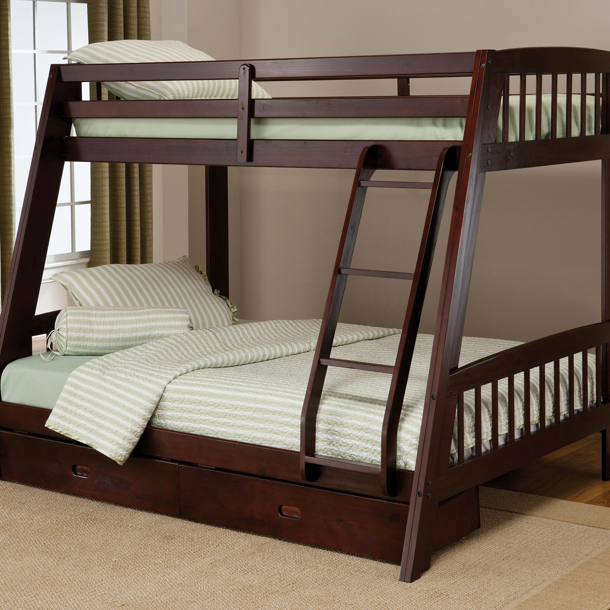 hillsdale rockdale twin over full bunk bed with storage reviews wayfair. Black Bedroom Furniture Sets. Home Design Ideas