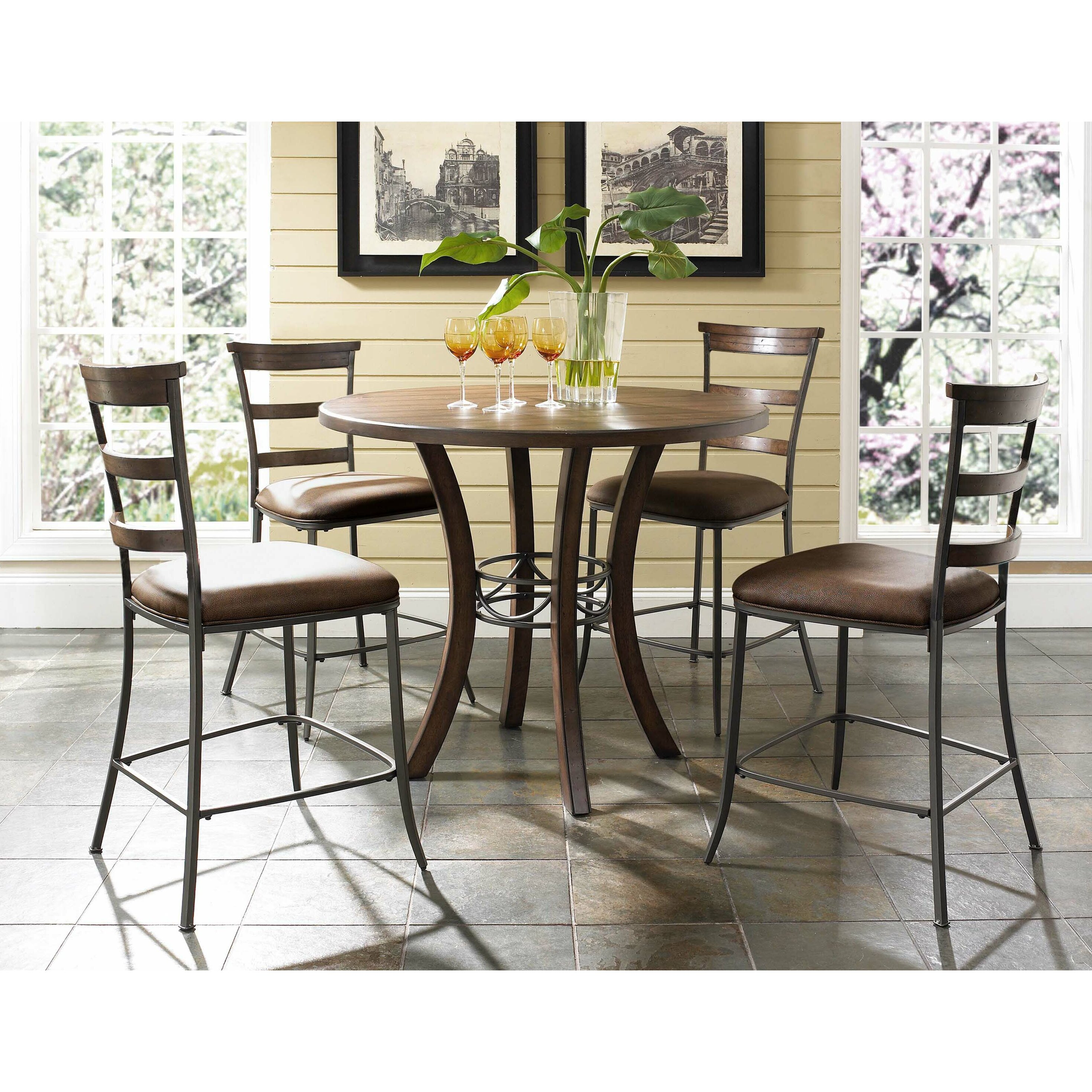hillsdale furniture cameron round counter height dining table