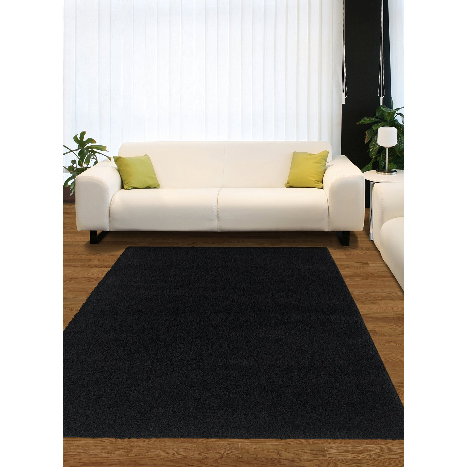 Garland Rug Southpointe Shag Black Area Rug Reviews Wayfair