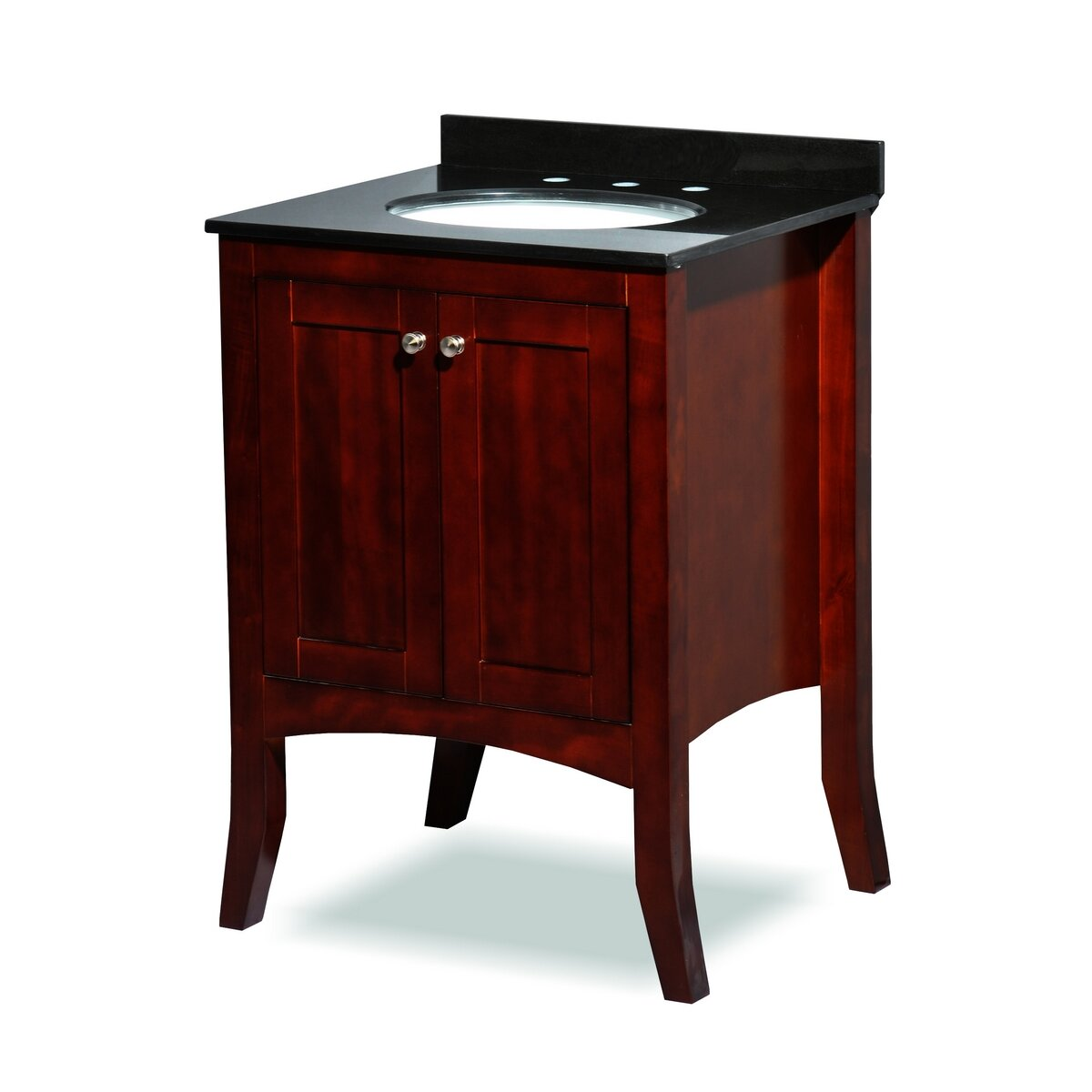 Belmont decor charleston 24 single bathroom vanity set for Single vanity bathroom ideas