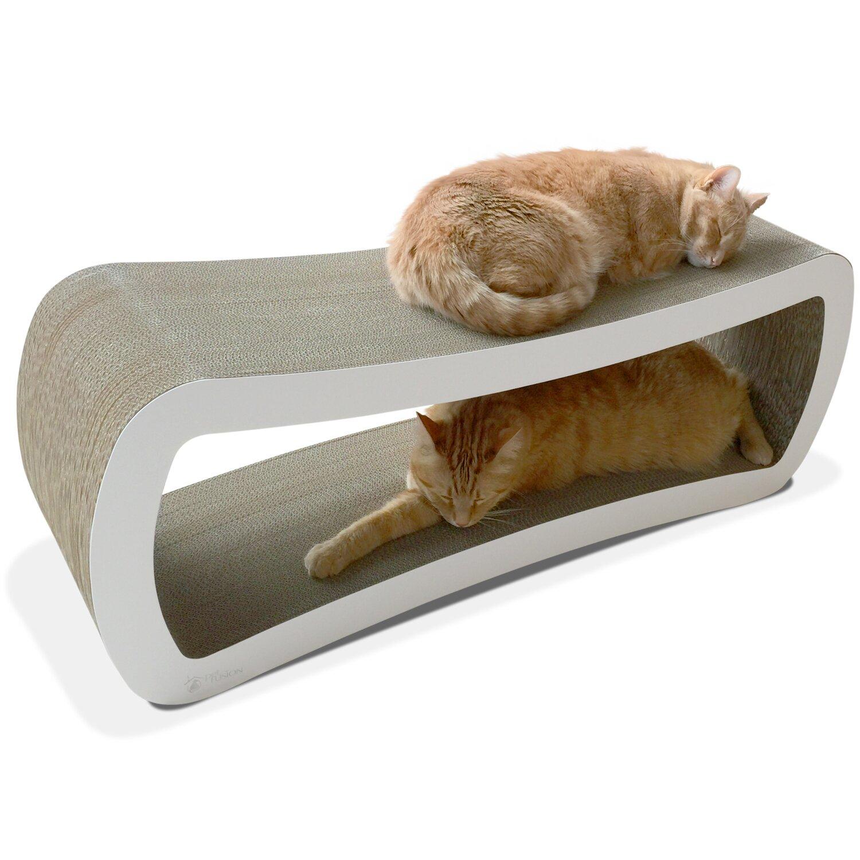Petfusion jumbo cat scratcher lounge bed reviews wayfair - Cat bed scratcher ...