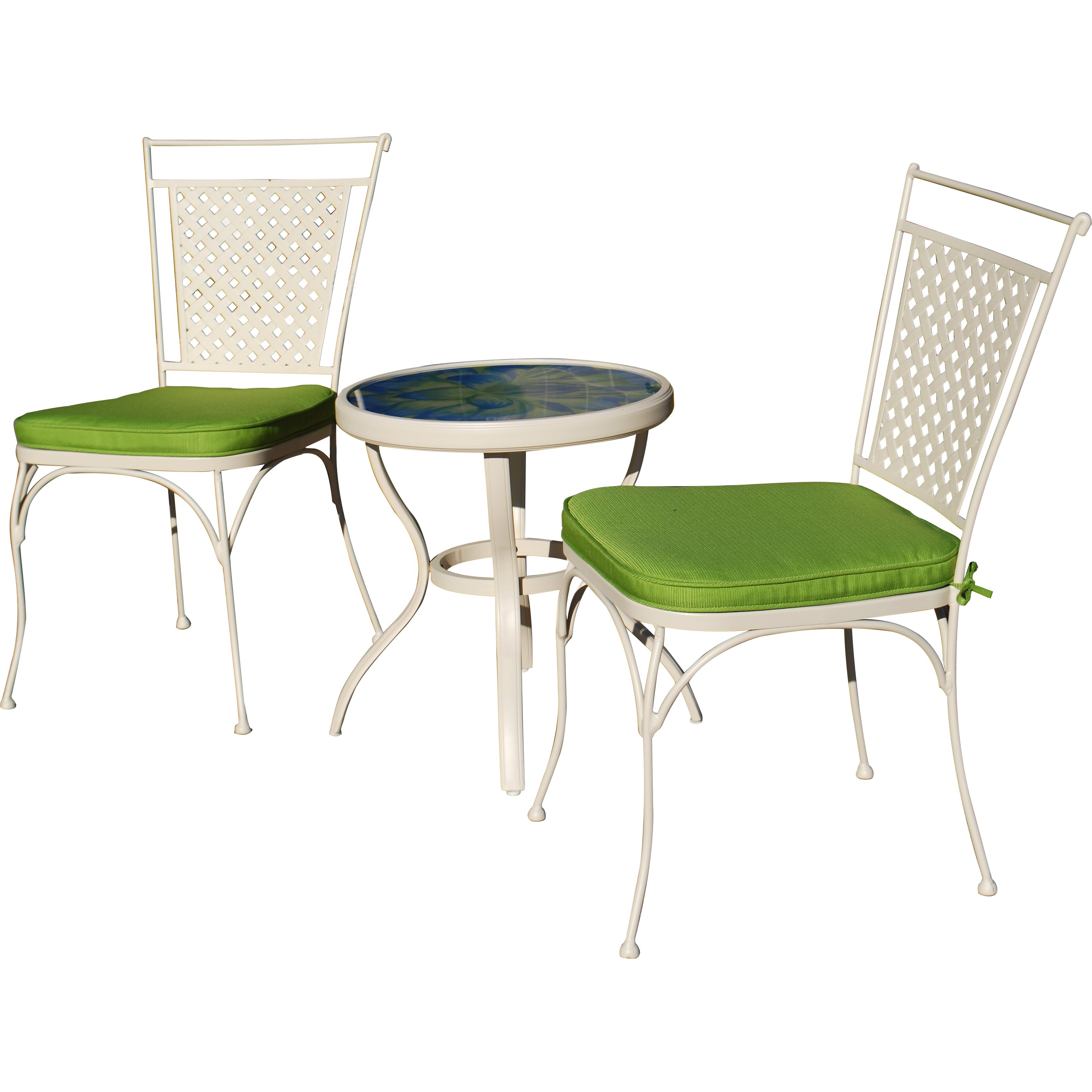 Outdoor Innovation Artisan 3 Piece Bistro Set With Cushions Reviews W