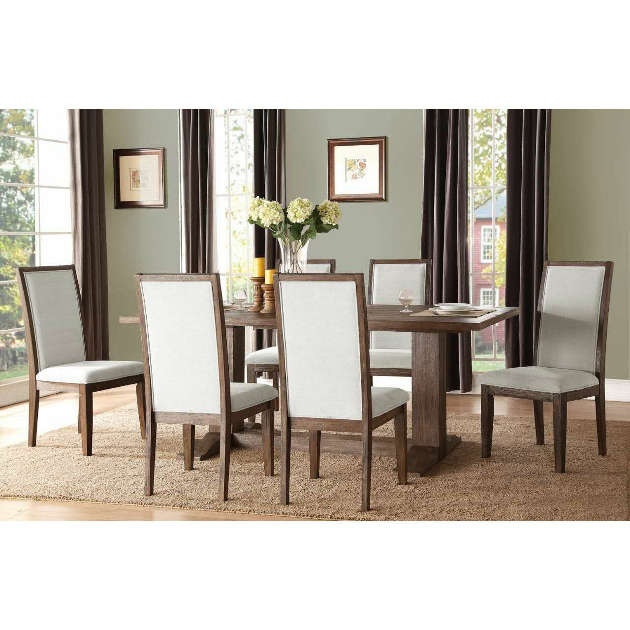 Dining Room Accent Pieces: Ultimate Accents Urban 7 Piece Dining Set