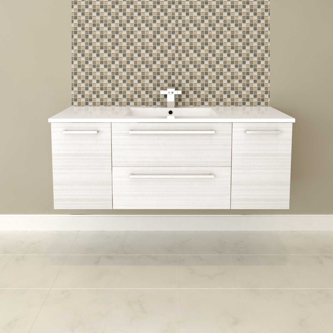 "Cutler Kitchen & Bath Silhouette 48"" Single Bathroom"