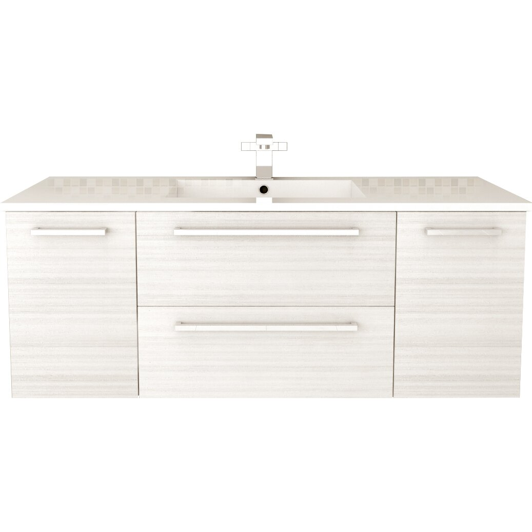 Cutler kitchen bath silhouette 48 single bathroom Floating bathroom vanity