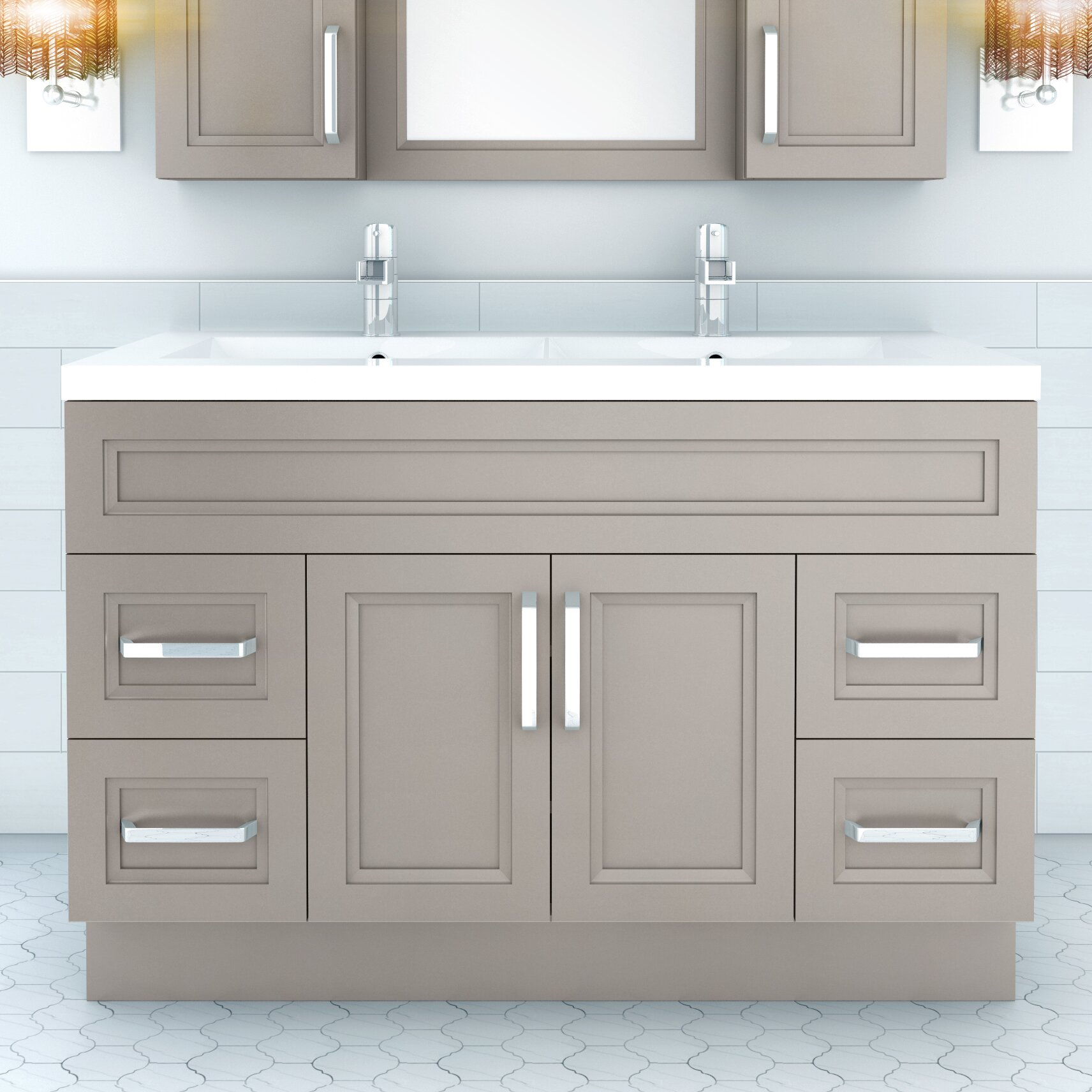Cutler Kitchen Bath Urban 48 Vanity Double Bowl