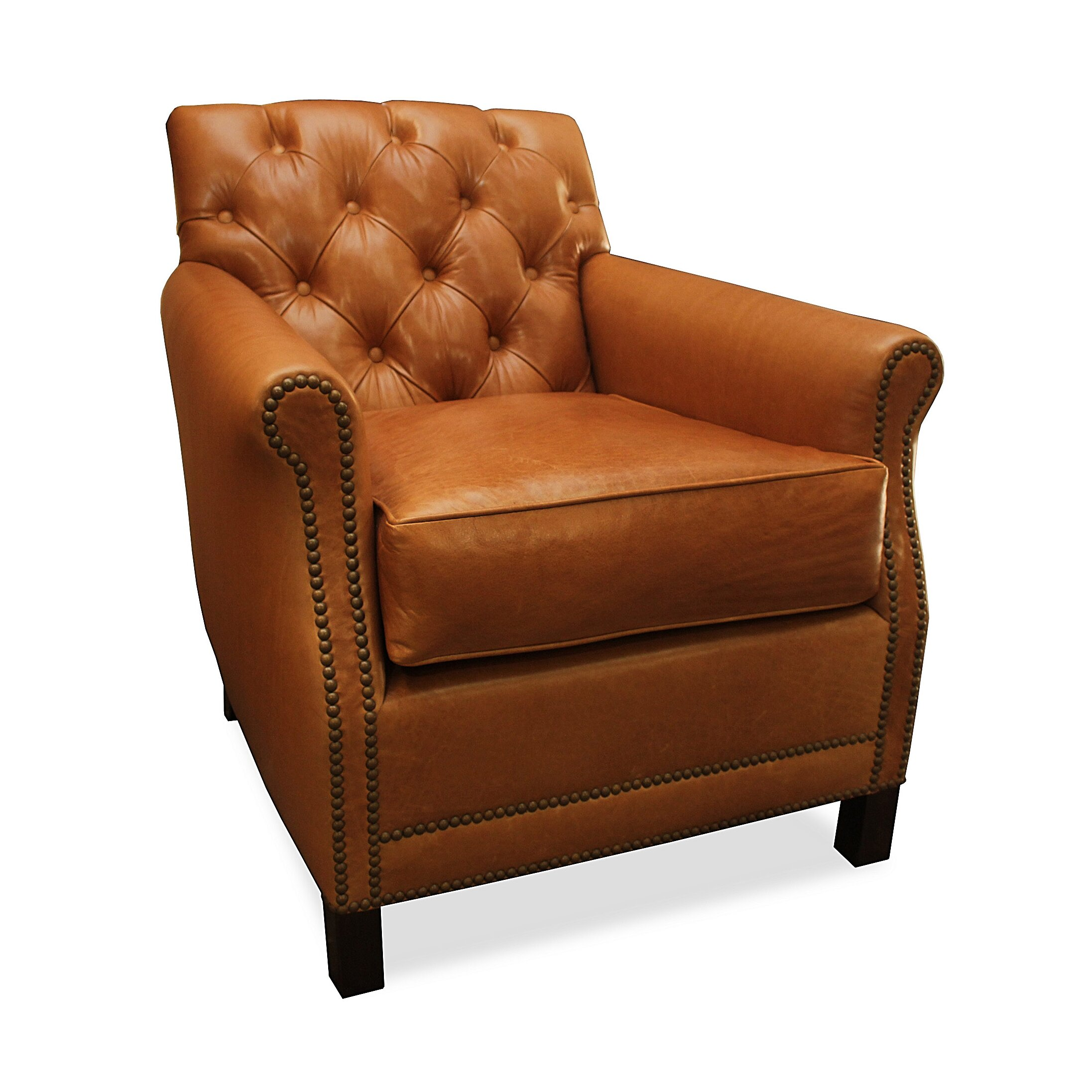 South cone home riga leather arm chair reviews wayfair for Furniture riga