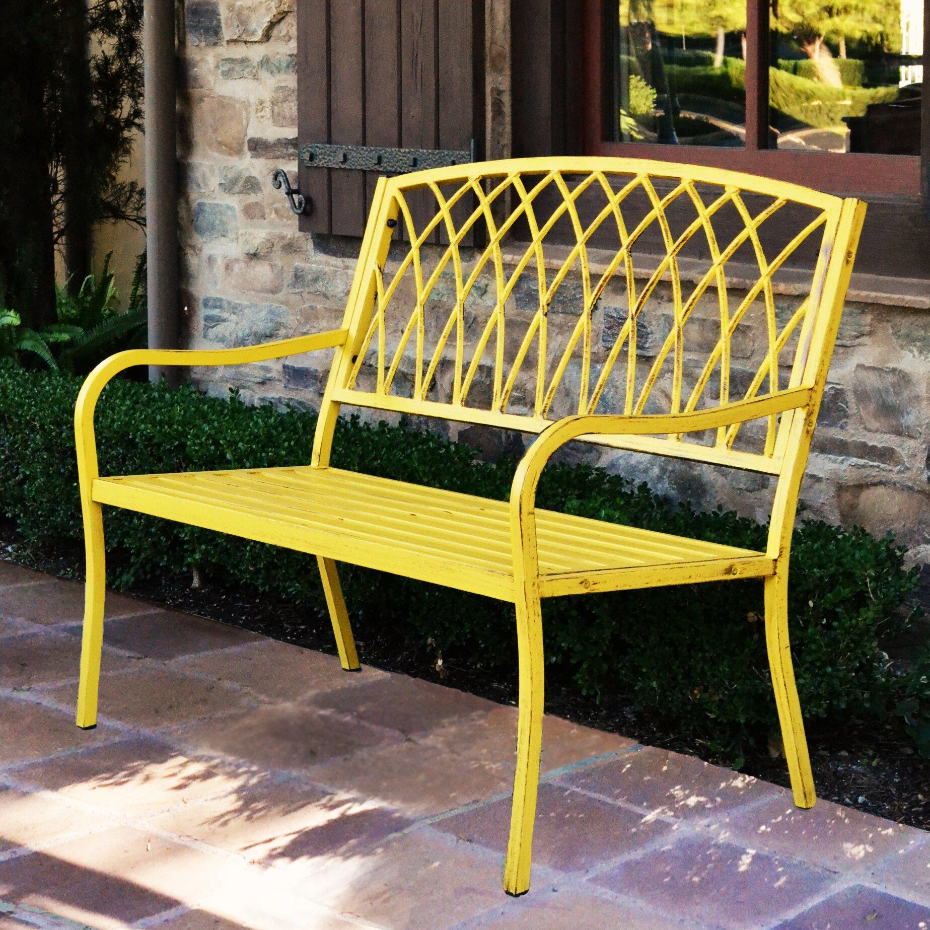 Innova Hearth And Home Lancaster Steel Park Bench Reviews Wayfair