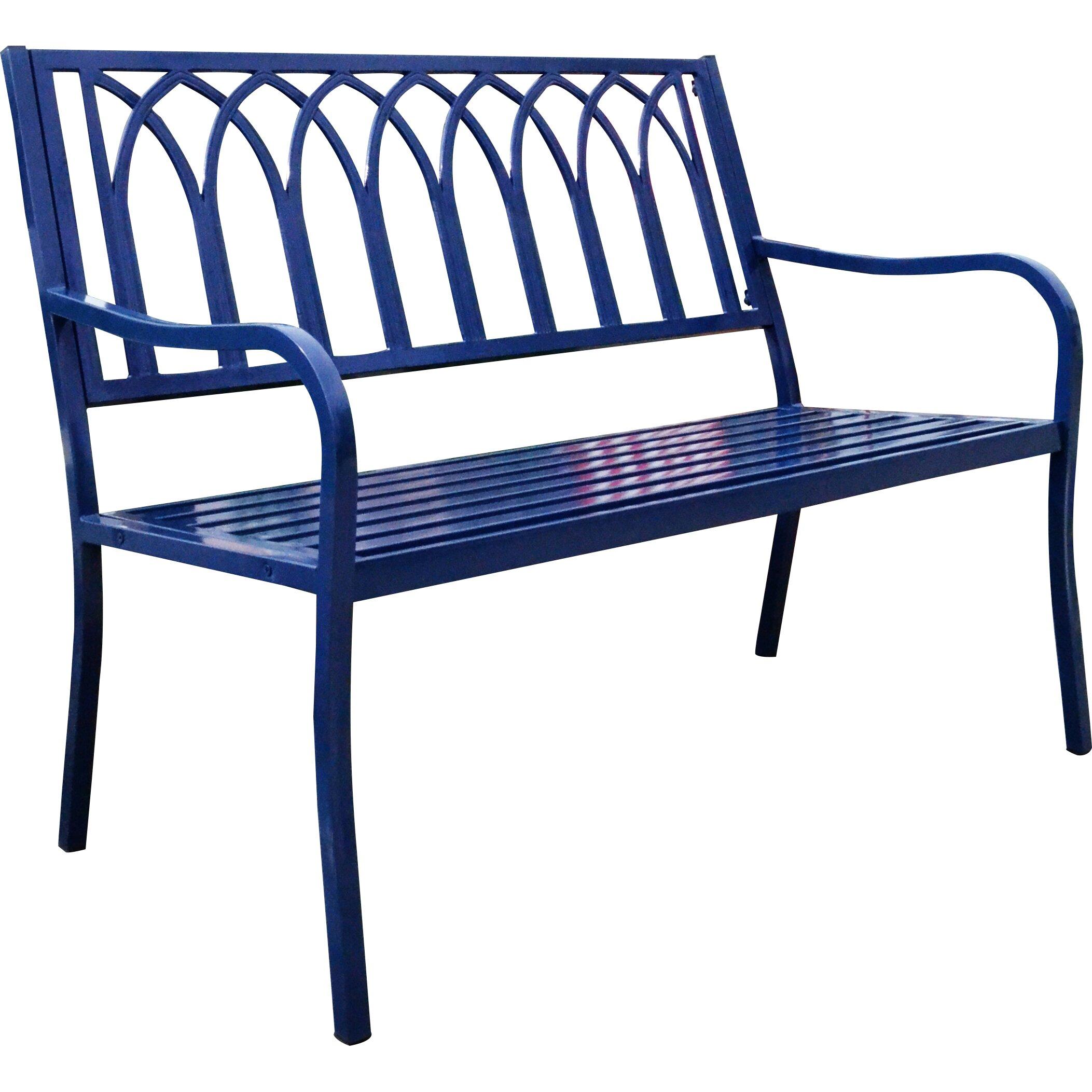 Hearth Bench: Innova Hearth And Home Lakeside Steel Garden Bench