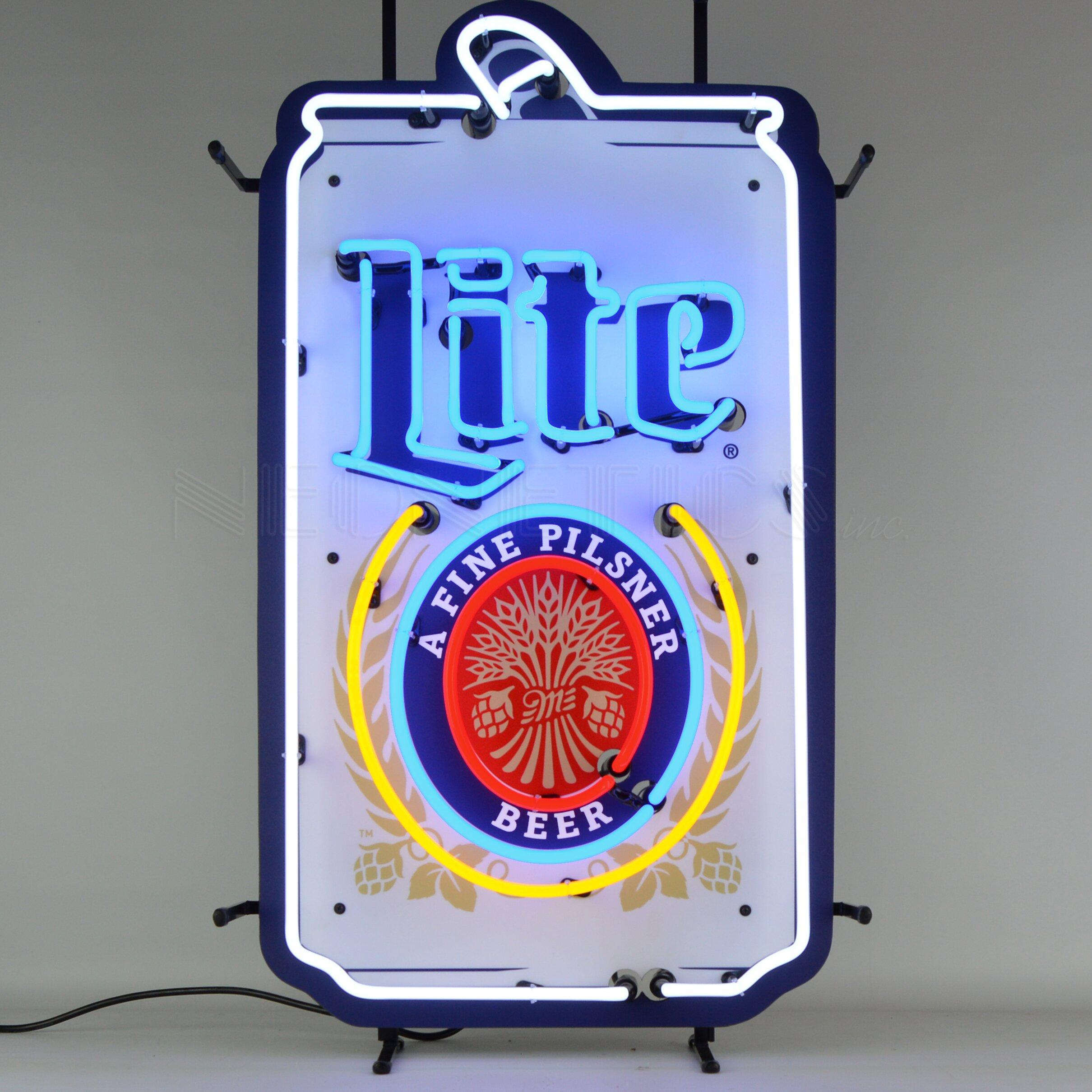 Neonetics Miller Lite Beer Can Neon Sign | Wayfair