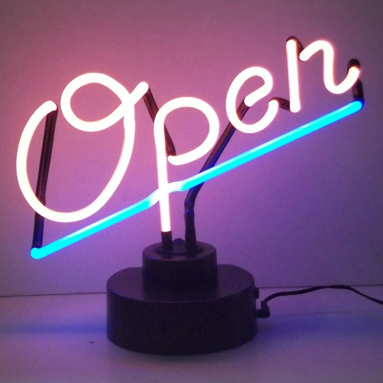 Neonetics Business Signs Open Script Neon Sign & Reviews ...