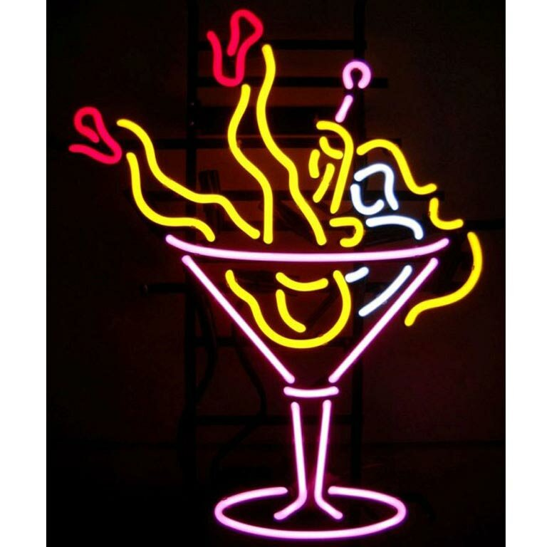 neonetics business signs martini girl neon sign reviews wayfair. Black Bedroom Furniture Sets. Home Design Ideas