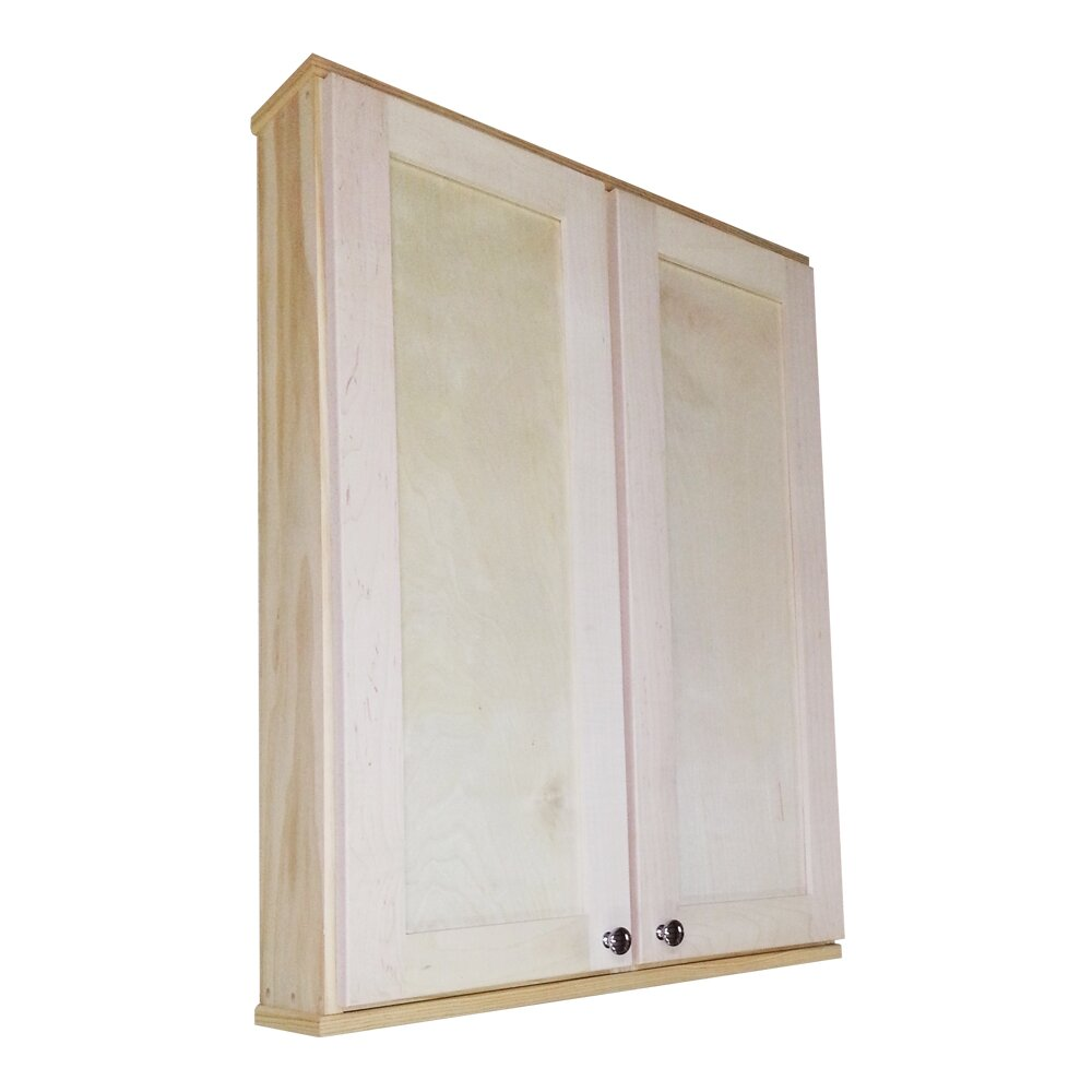 Wg Wood Products Shaker Series 29 X 37 5 Wall Mounted