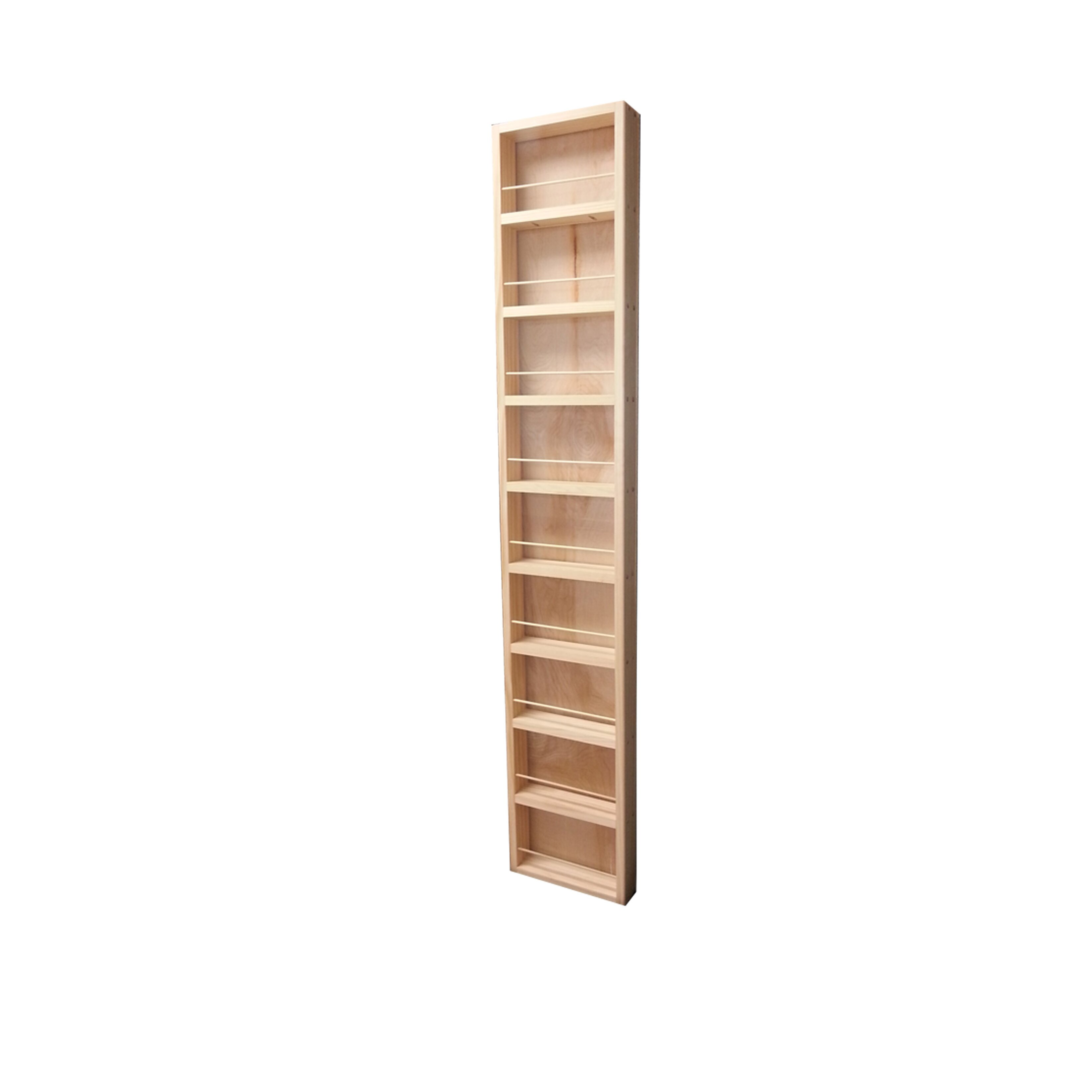 wg wood products midland premium wall mounted spice rack reviews wayfair. Black Bedroom Furniture Sets. Home Design Ideas