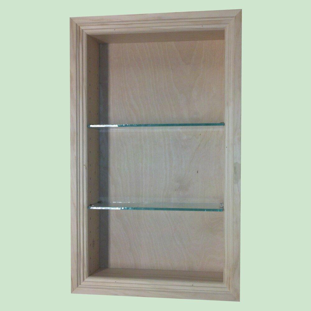 Wg wood products newberry bathroom shelf reviews wayfair - Bathroom wall cabinets and shelves ...