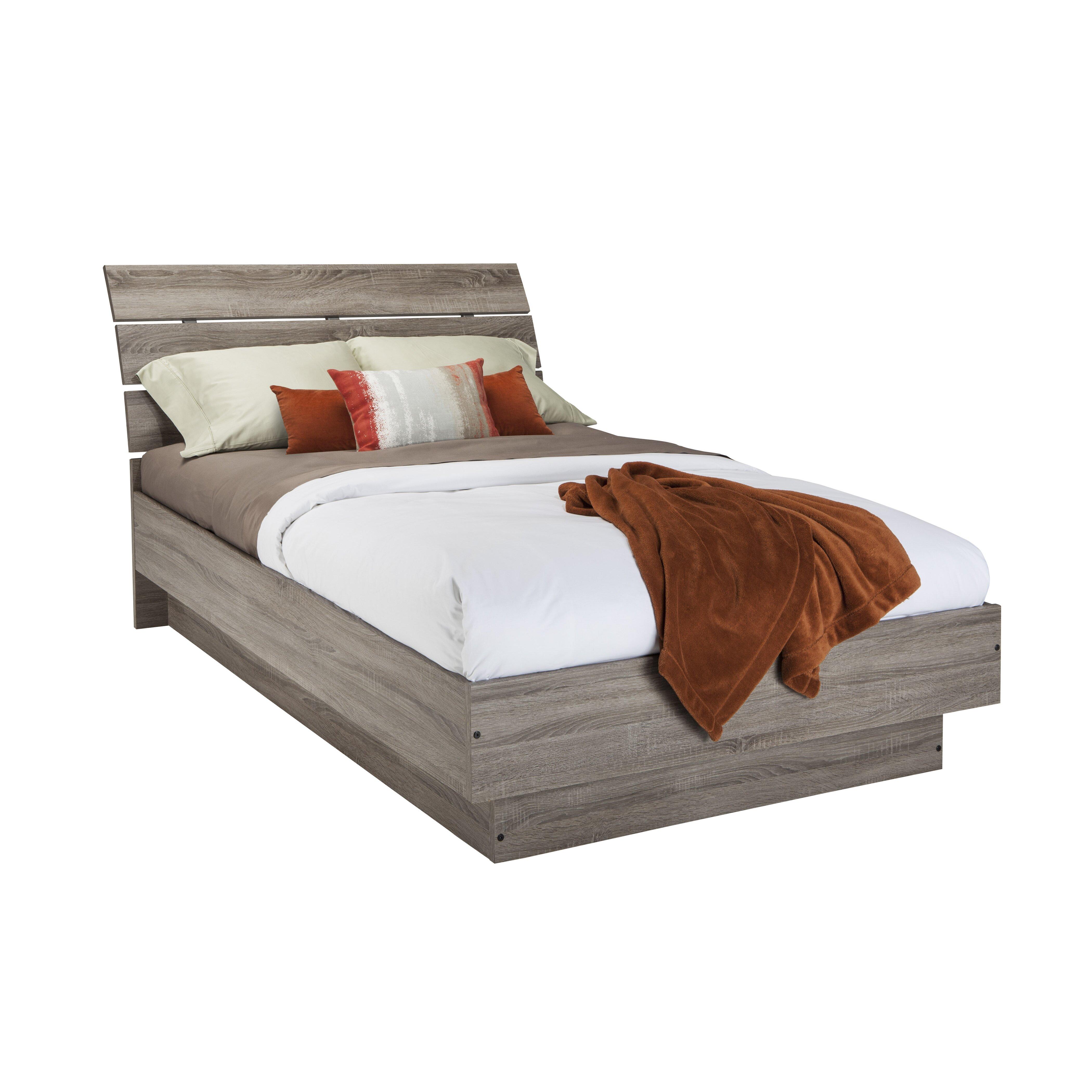 Varick gallery west oak lane platform bed reviews wayfair - Oak platform beds ...