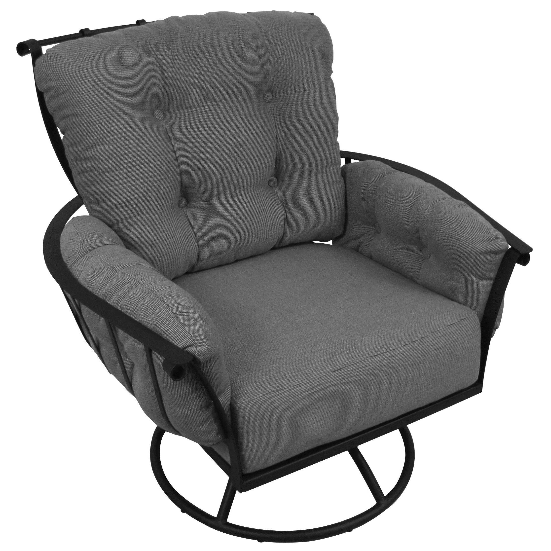 Meadowcraft Swivel Rocking Chair with Cushions & Reviews ...