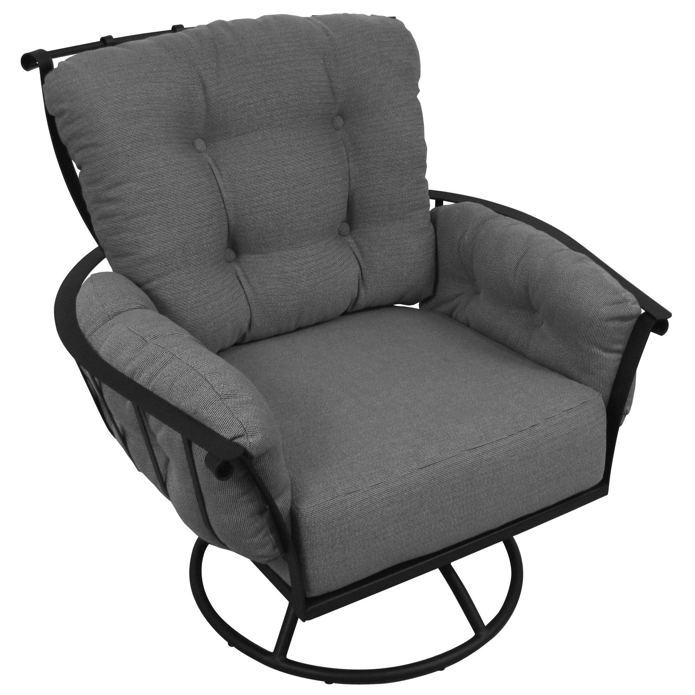 Meadowcraft Swivel Rocking Chair with Cushions & Reviews  Wayfair.ca
