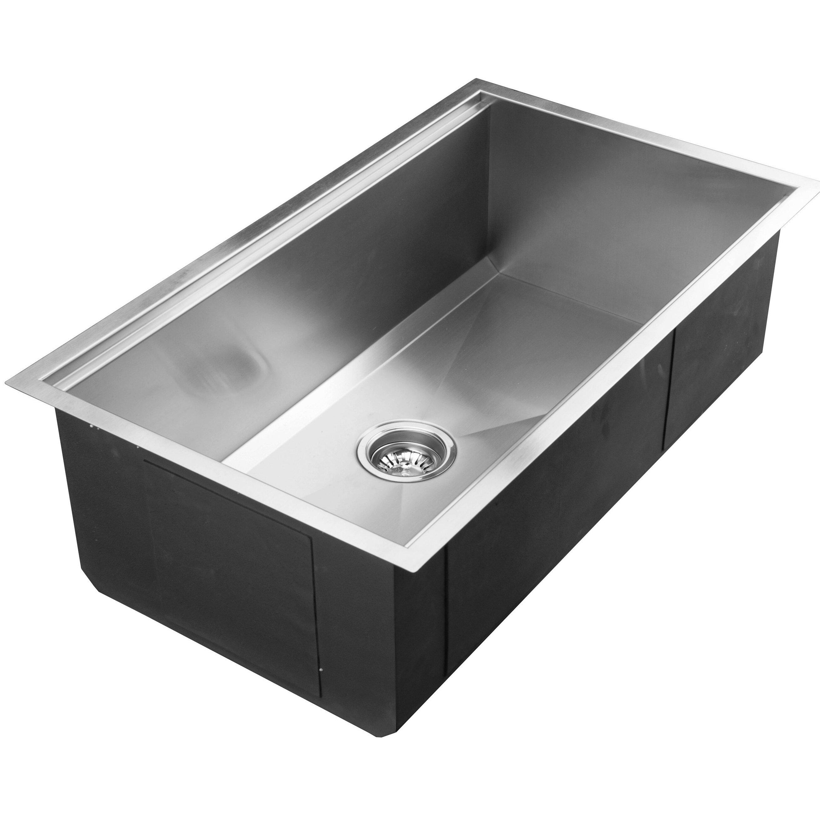 Ukinox 32 X 18 5 Undermount Single Bowl Stainless Steel Kitchen Sink
