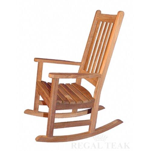Regal Teak Carolina Rocking Chair  Wayfair
