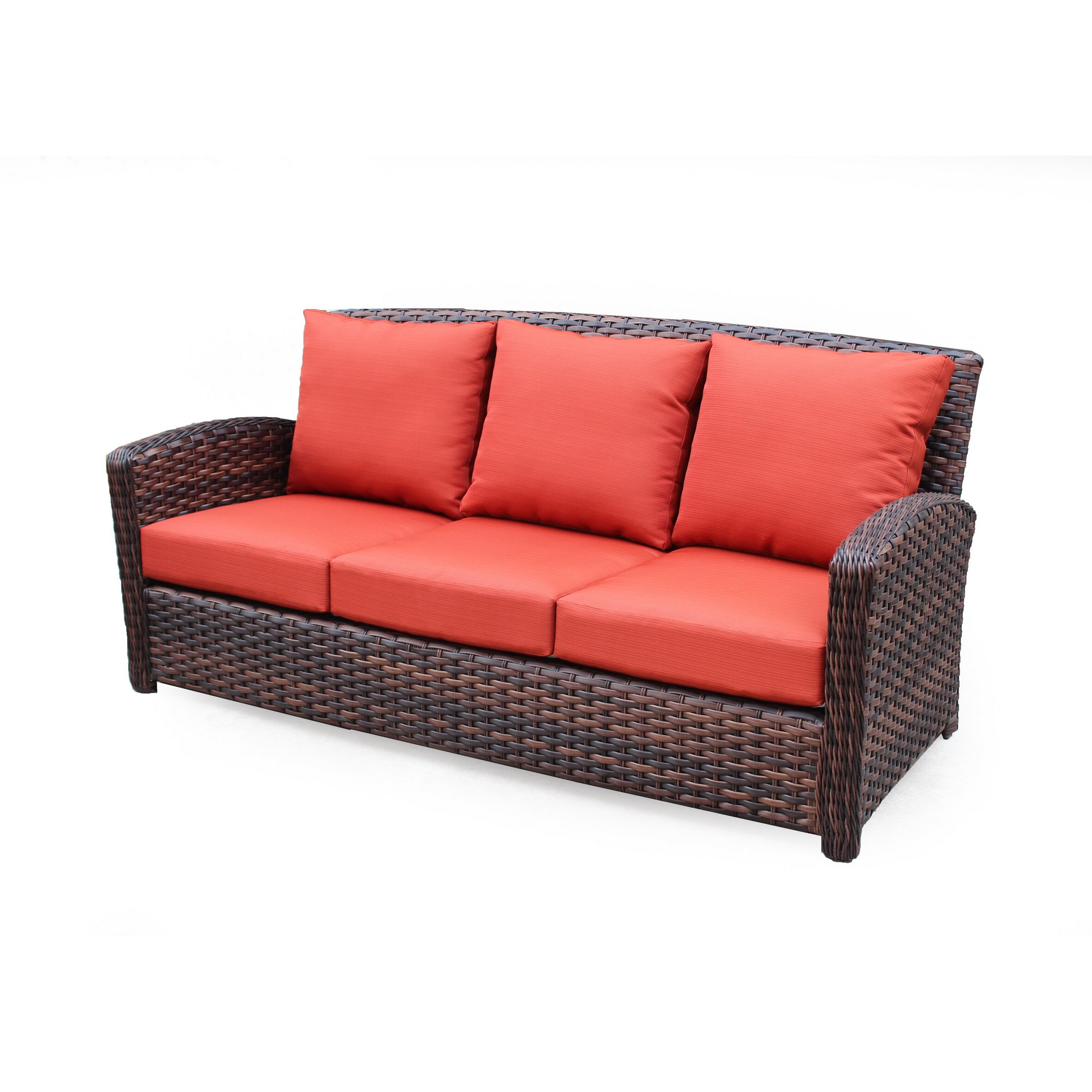 south sea rattan huntington sofa with cushion wayfair. Black Bedroom Furniture Sets. Home Design Ideas