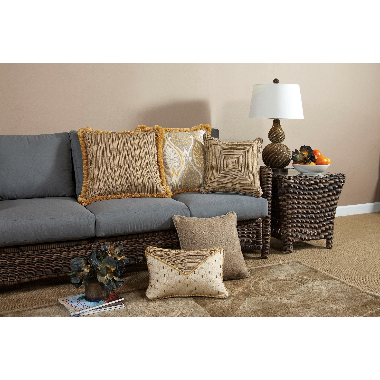 South Sea Rattan Aura Large Indoor/Outdoor Sunbrella Throw Pillow Wayfair.ca
