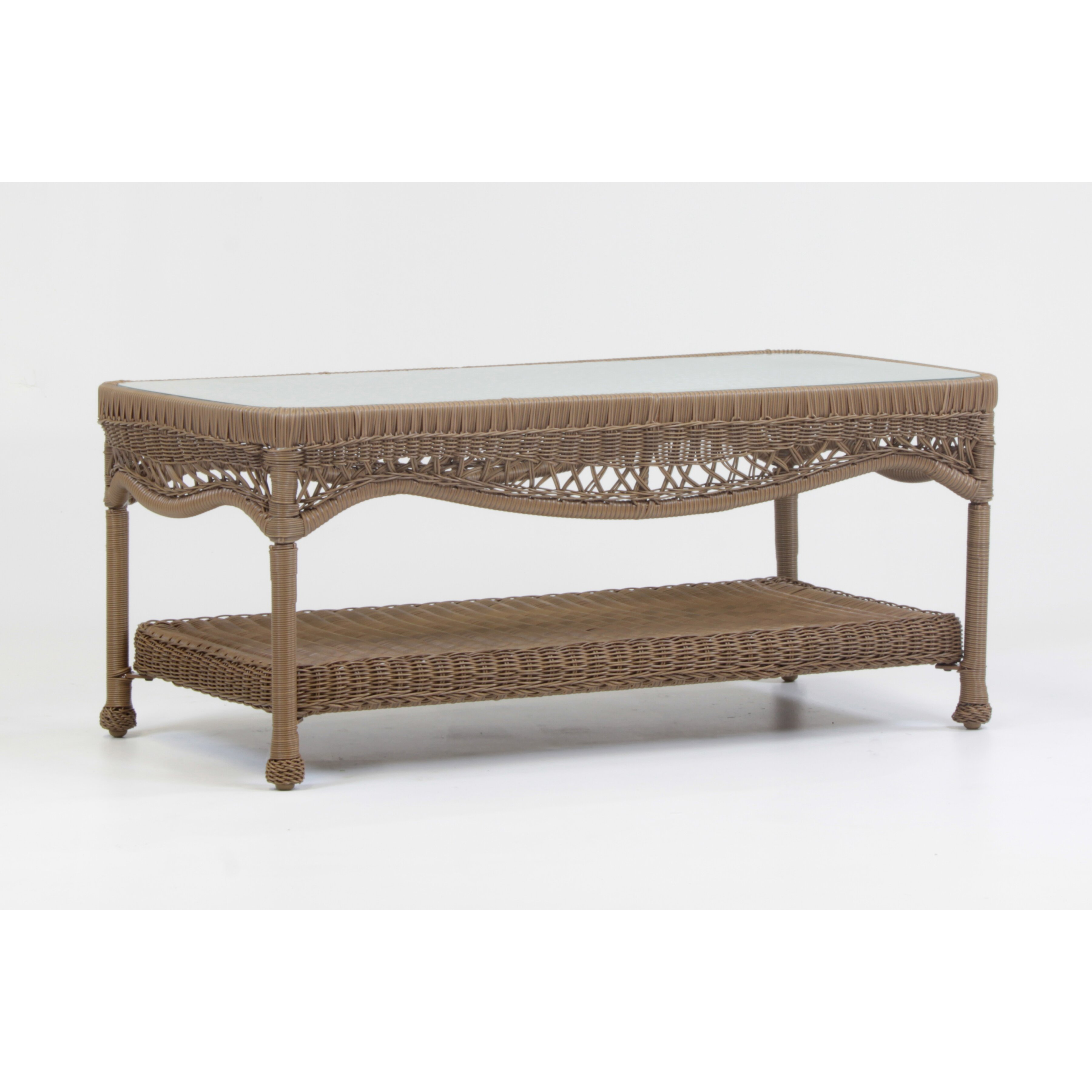 South sea rattan riviera coffee table wayfair for Wayfair outdoor coffee table