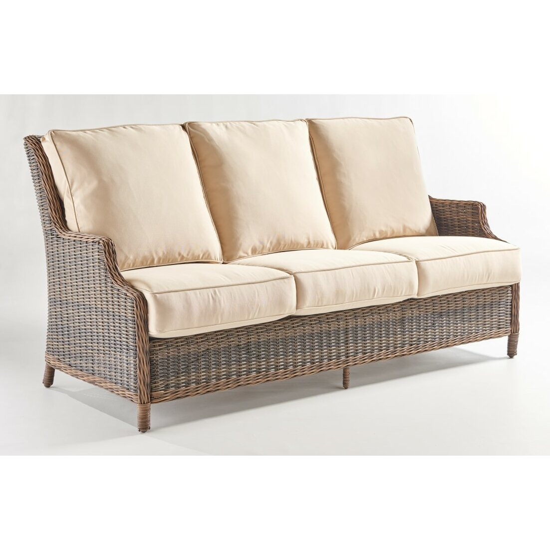 South sea rattan barrington sofa with cushion wayfair for Sofa tiefe sitzfl che
