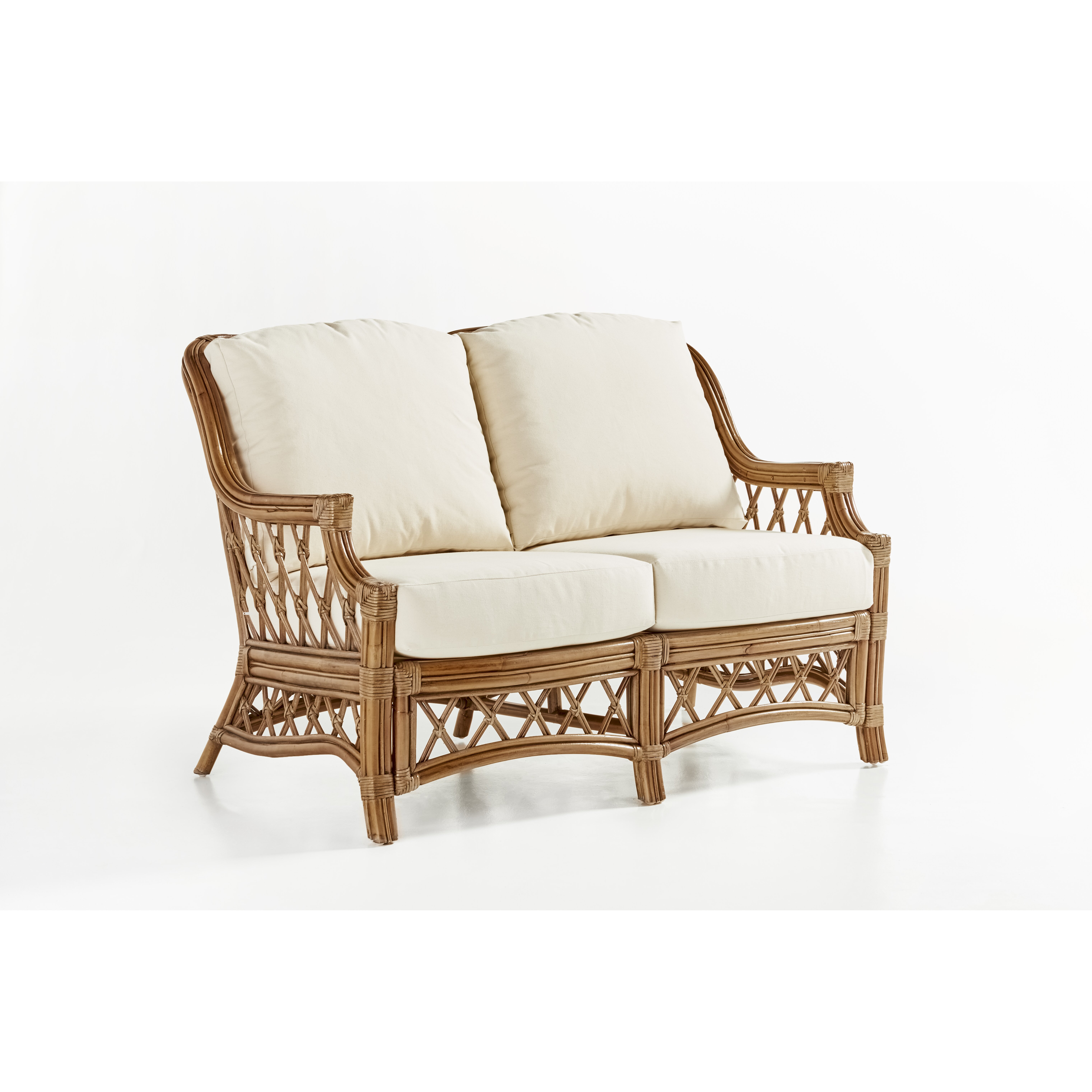 South sea rattan nadine loveseat Rattan loveseat