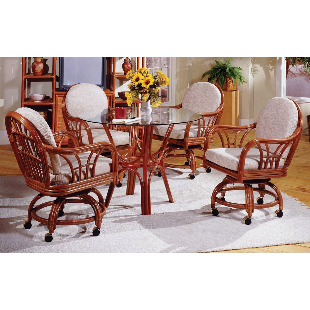 South sea rattan new kauai dining table wayfair for Wayfair dining table