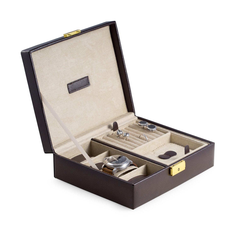 Bey berk 4 watch box reviews wayfair for Bey berk jewelry box