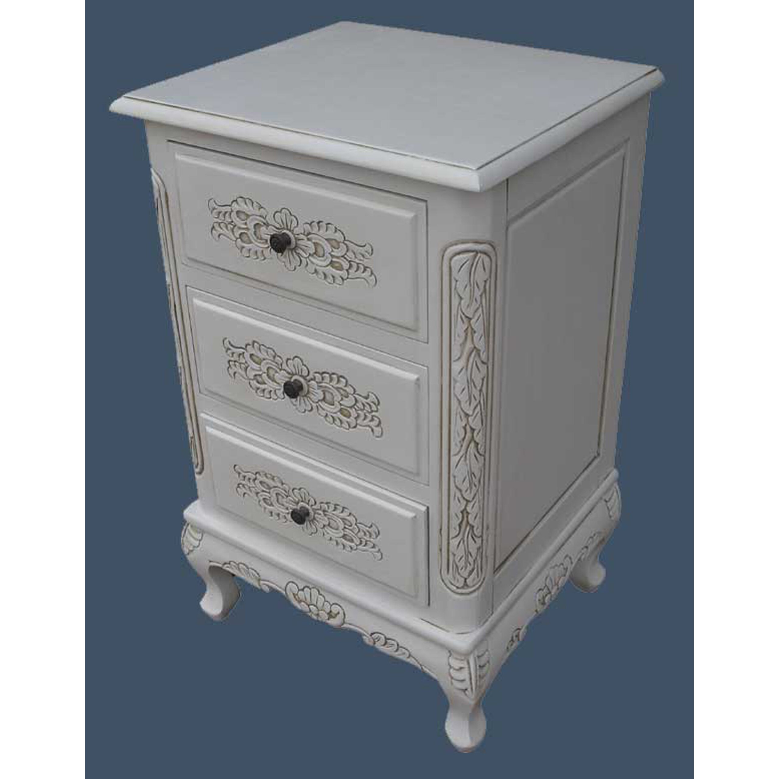 Grand international decor french style 3 drawer chest of for International decor