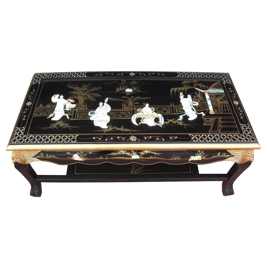 Grand international decor mother of pearl coffee table for International decor