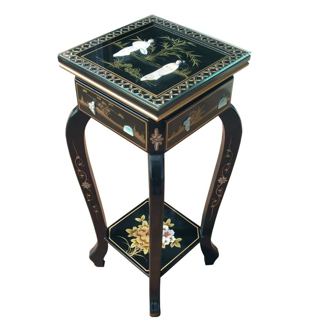 Grand International Decor Mother Of Pearl Plant Stand