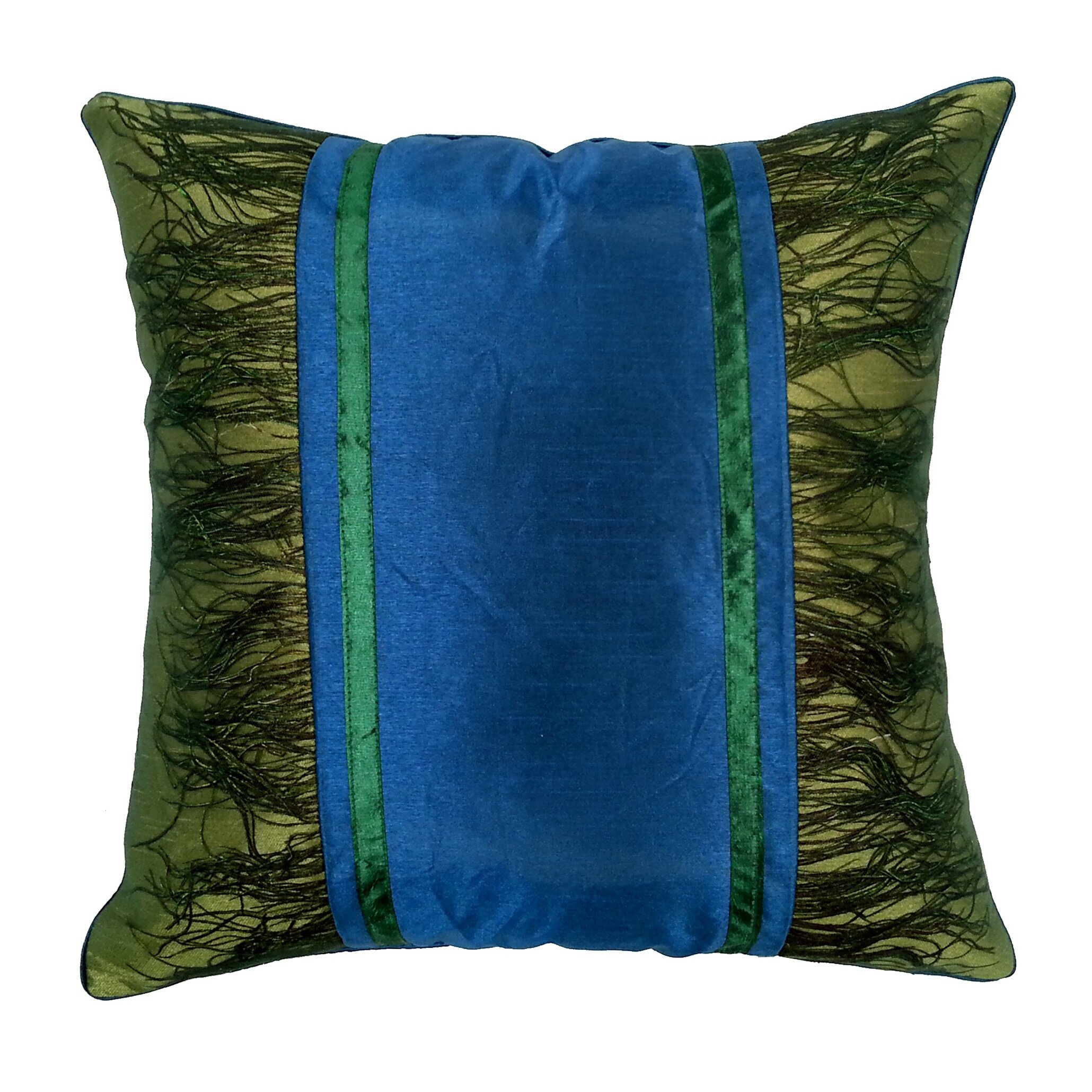 Edie Inc. Peacock Plume Throw Pillow Wayfair